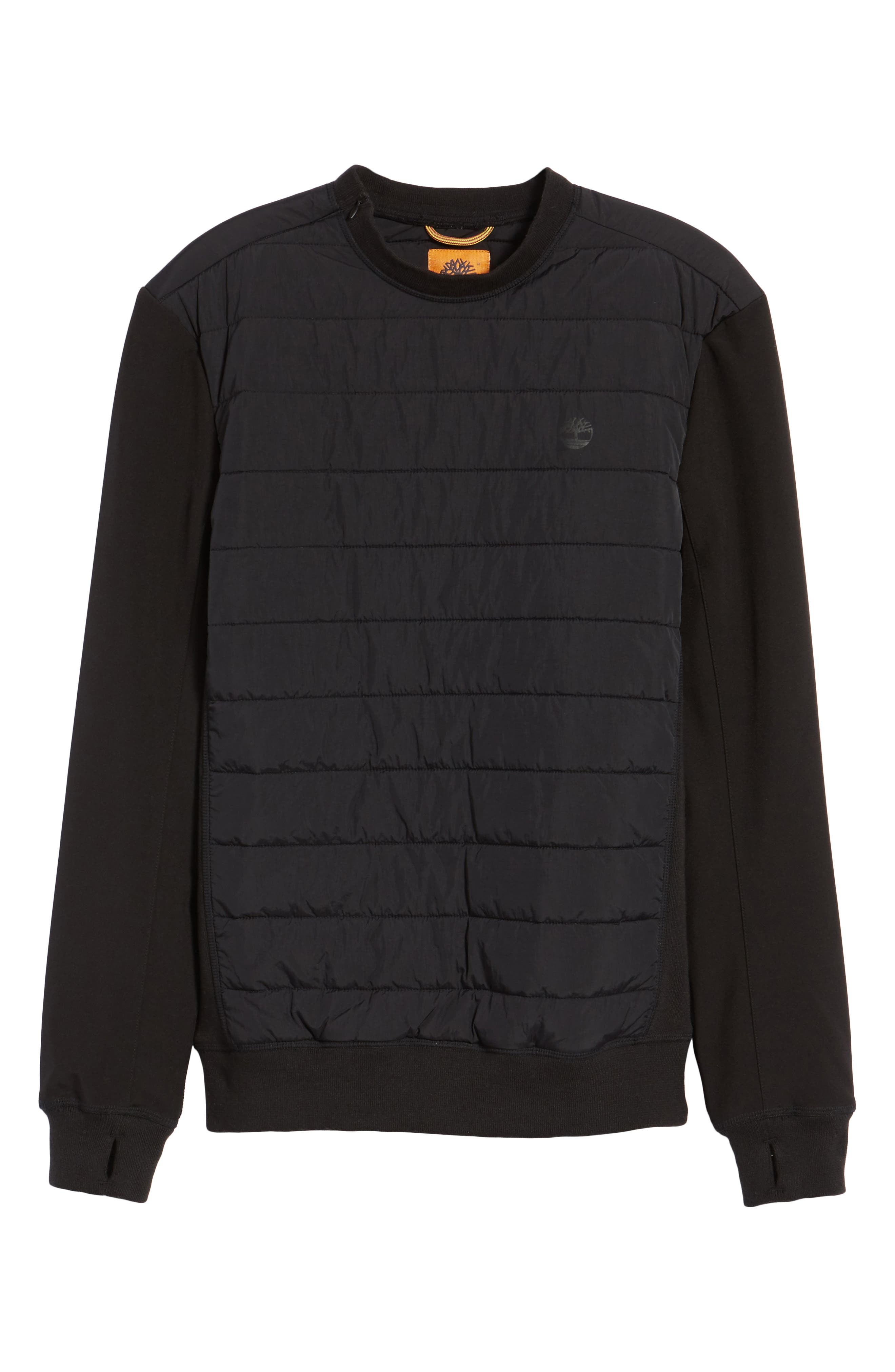 Quilted Pullover,                             Alternate thumbnail 5, color,                             001