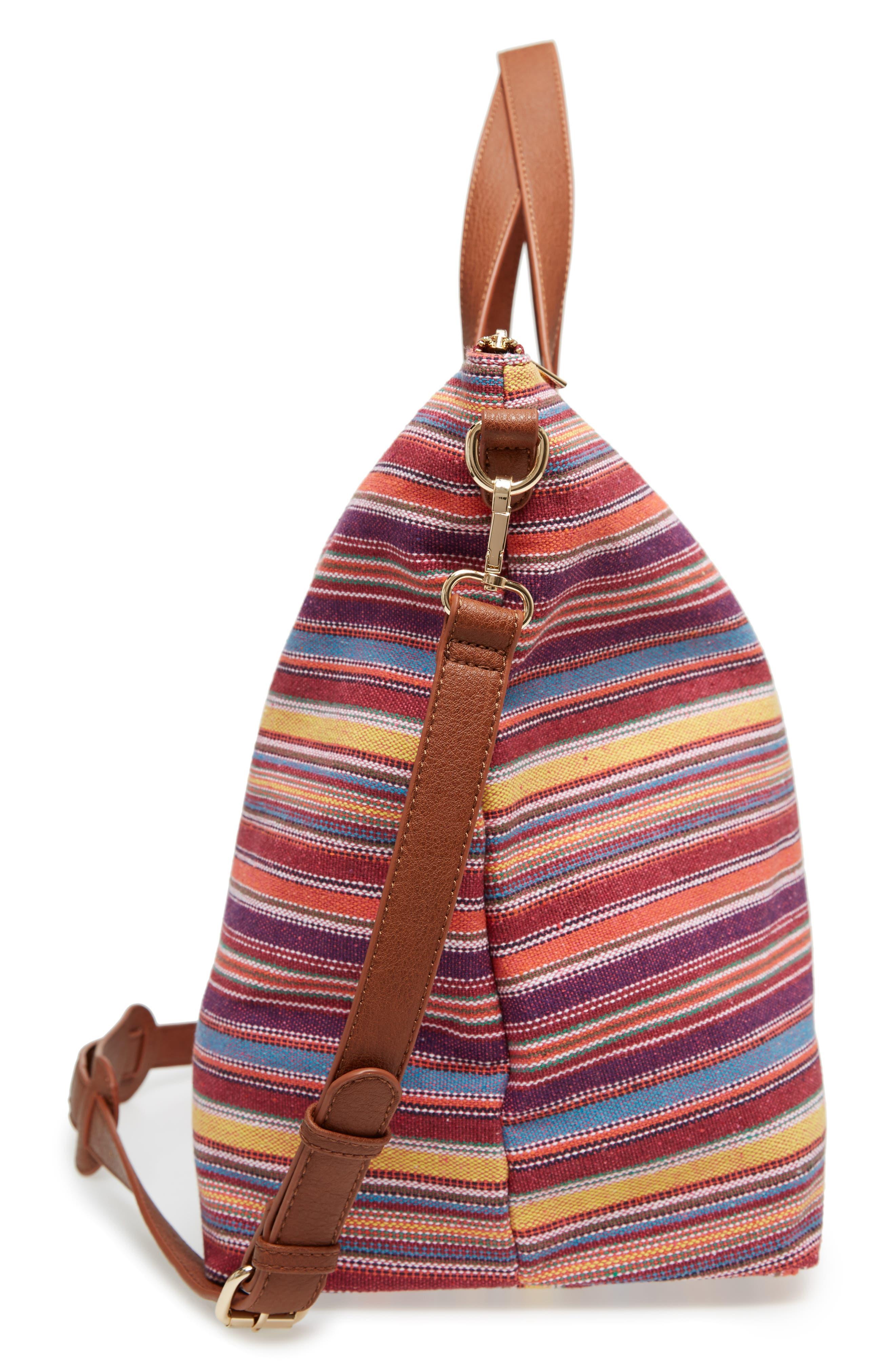 Stripe Woven Overnight Bag,                             Alternate thumbnail 5, color,                             500