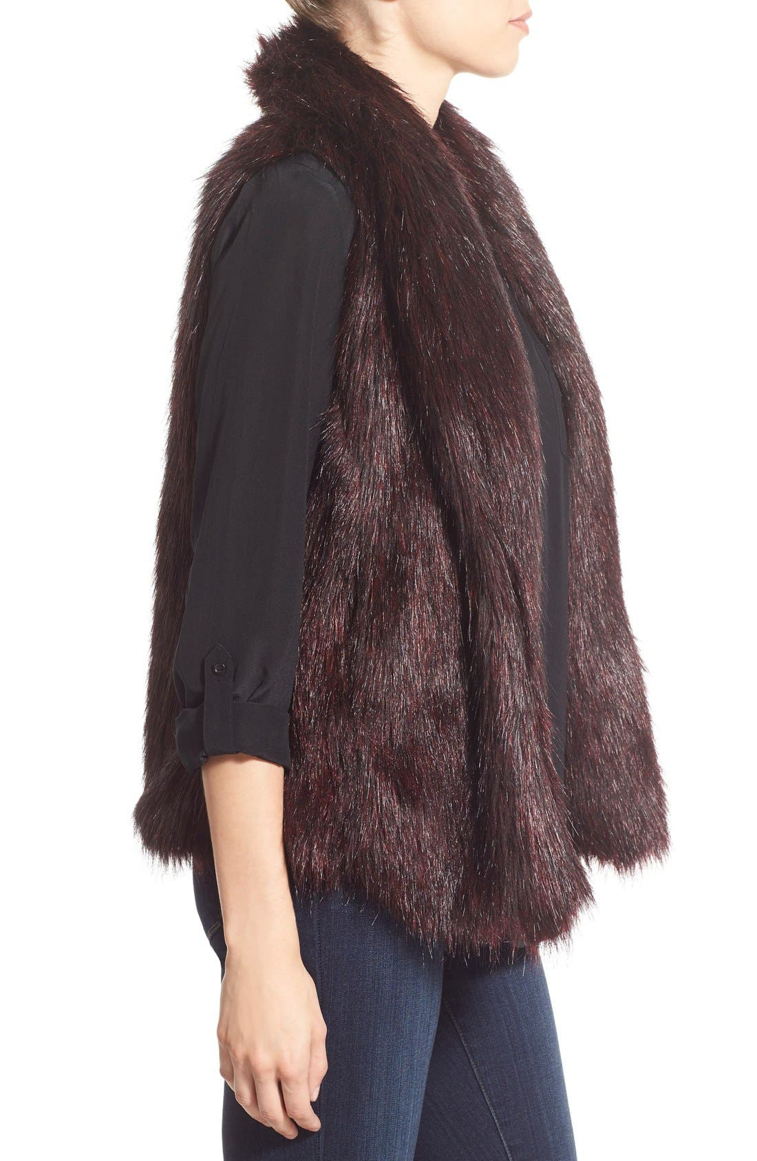 'Emily' Faux Fur Vest,                             Alternate thumbnail 5, color,                             505