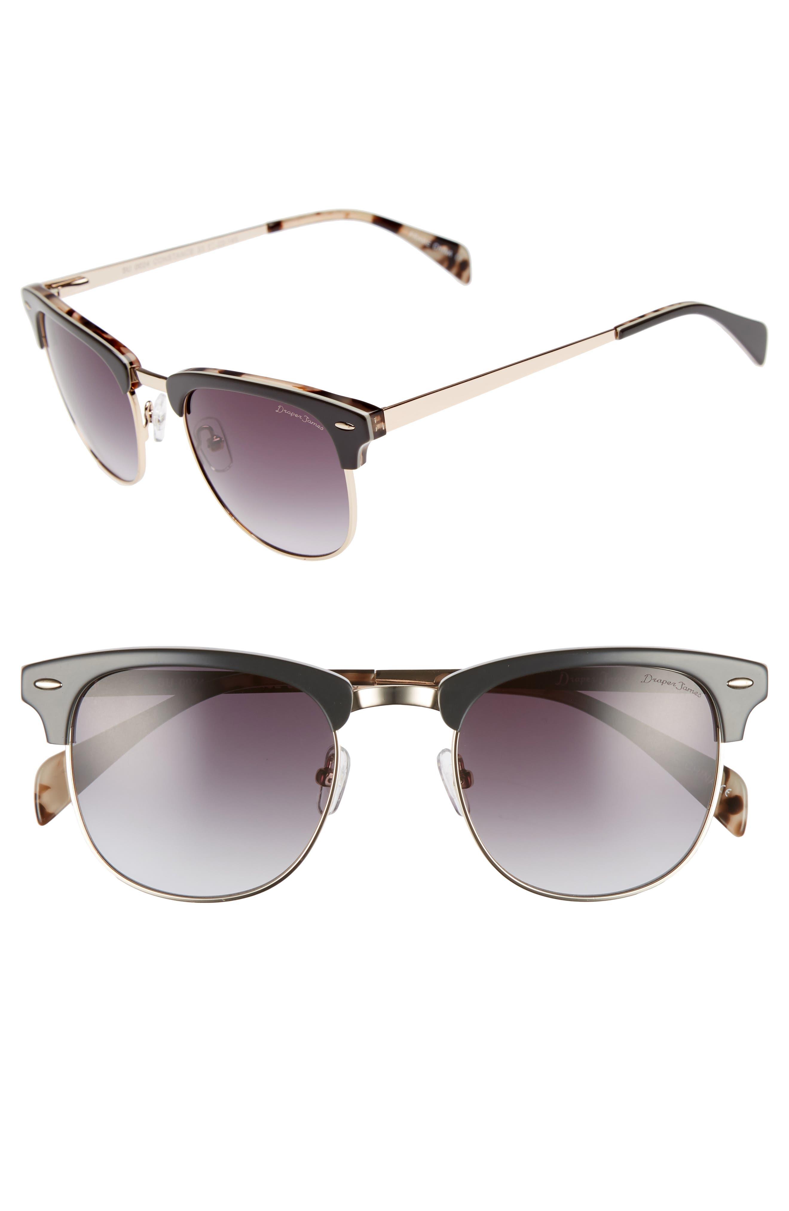 55mm Sunglasses,                             Main thumbnail 1, color,                             GREY