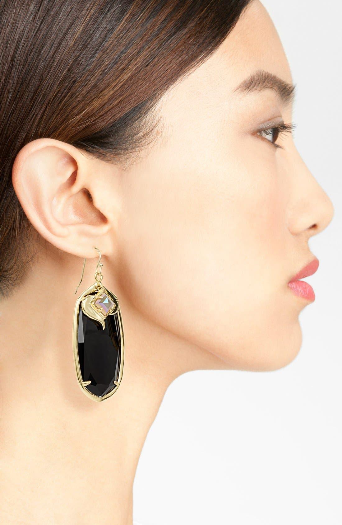 'Gabby' Oval Stone Drop Earrings,                             Alternate thumbnail 2, color,                             001