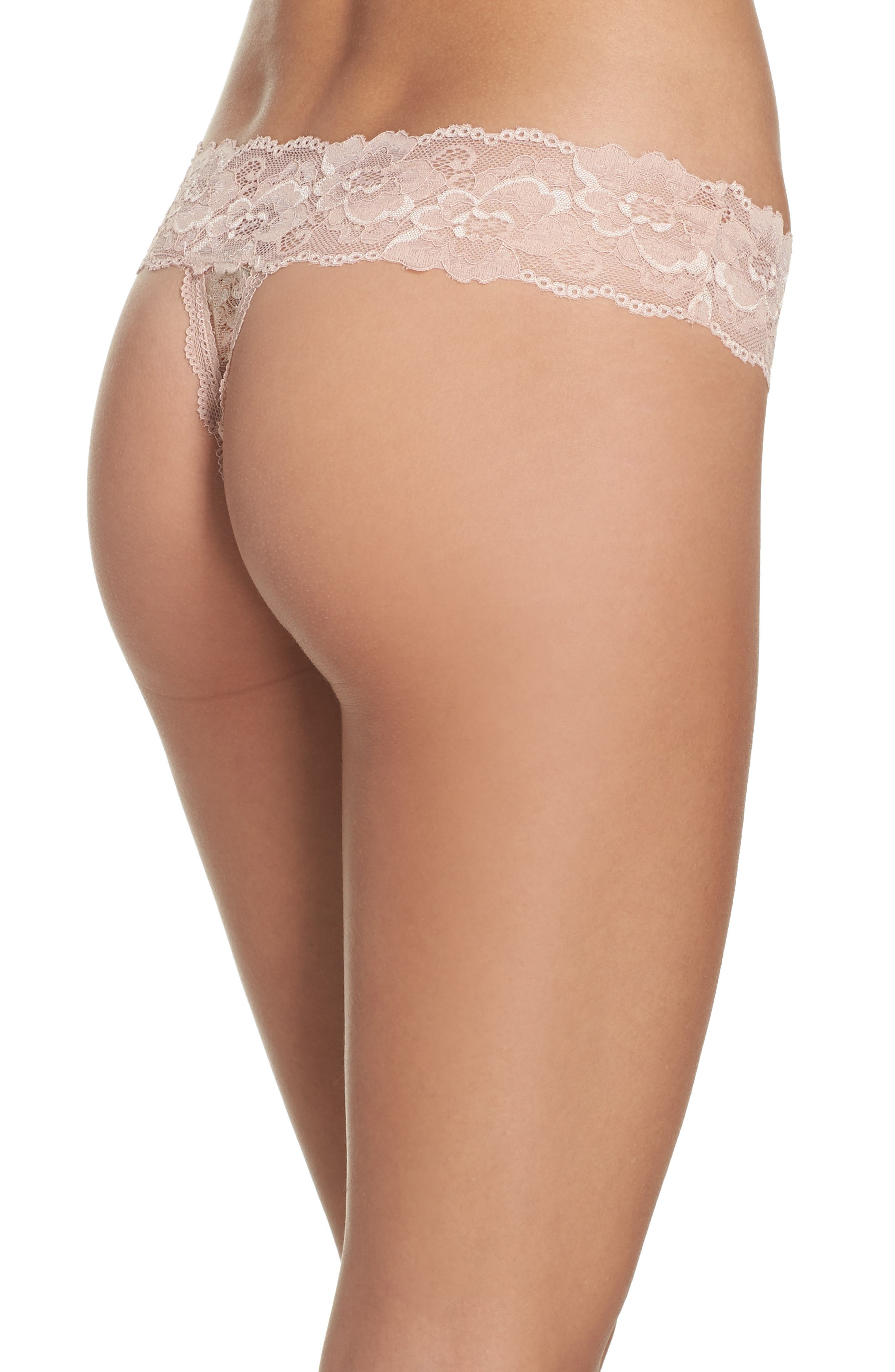 Honeydew Lace Thong,                             Alternate thumbnail 25, color,