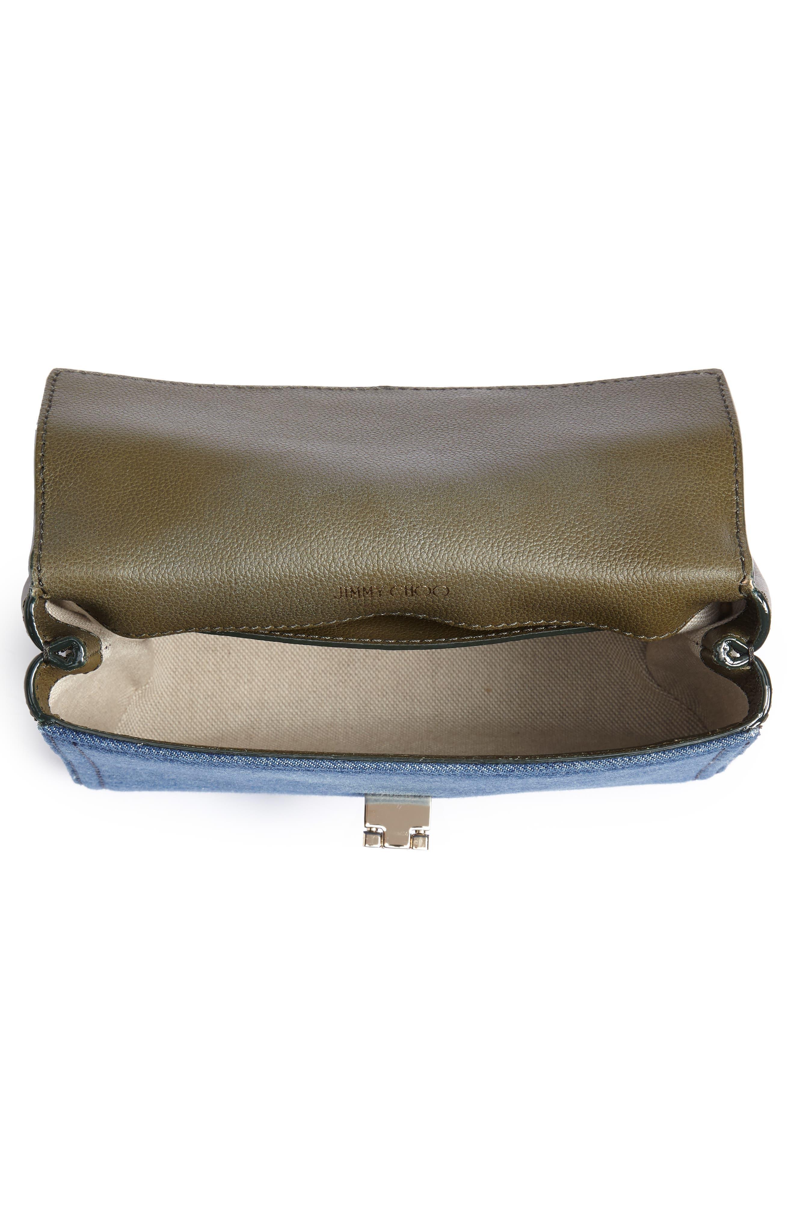 Marianne Leather & Genuine Snakeskin Crossbody Bag,                             Alternate thumbnail 5, color,                             NAVY MIX