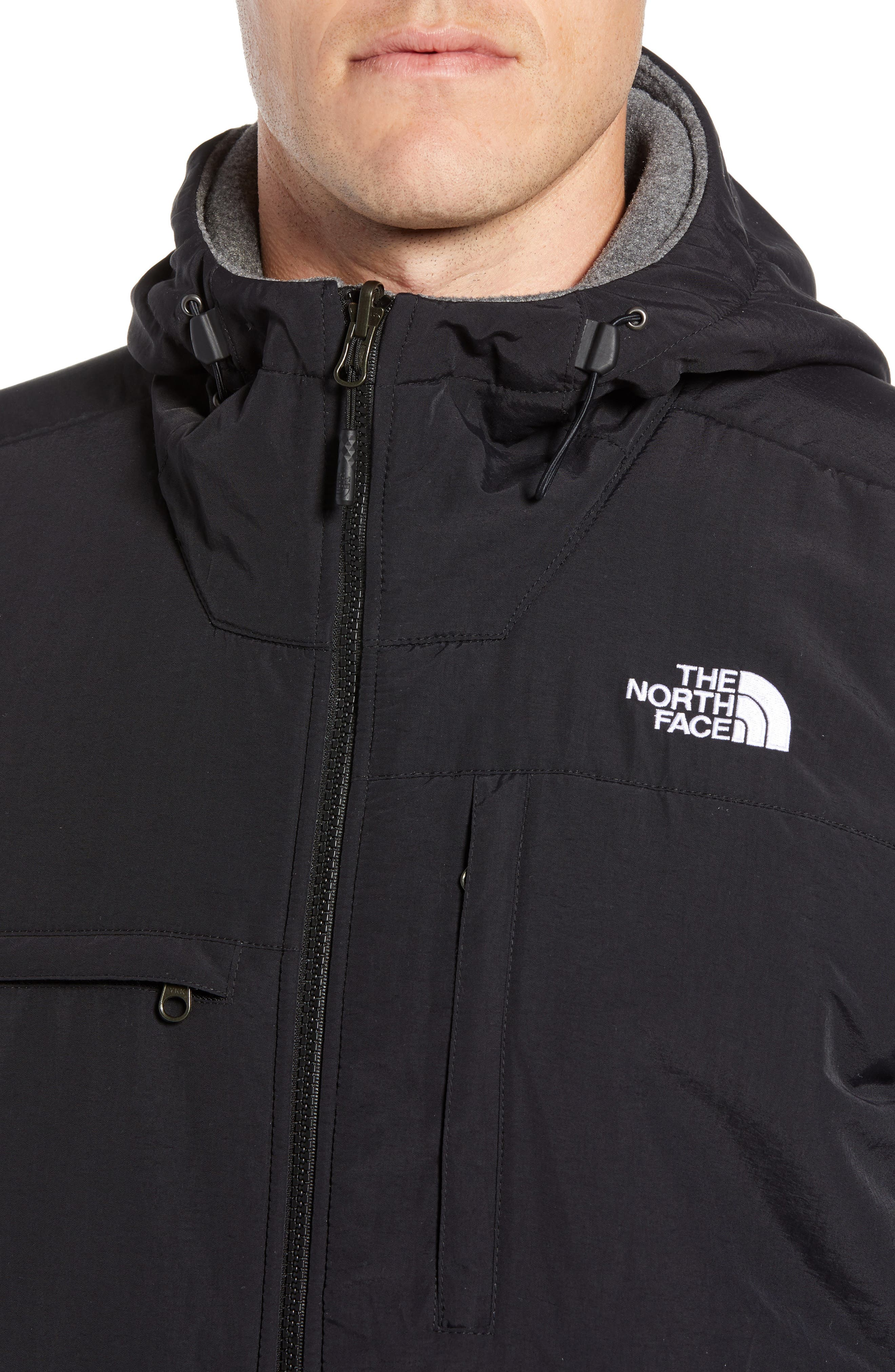 Denali 2 Hooded Jacket,                             Alternate thumbnail 4, color,                             RECYCLED CHARCOAL GREY HEATHER