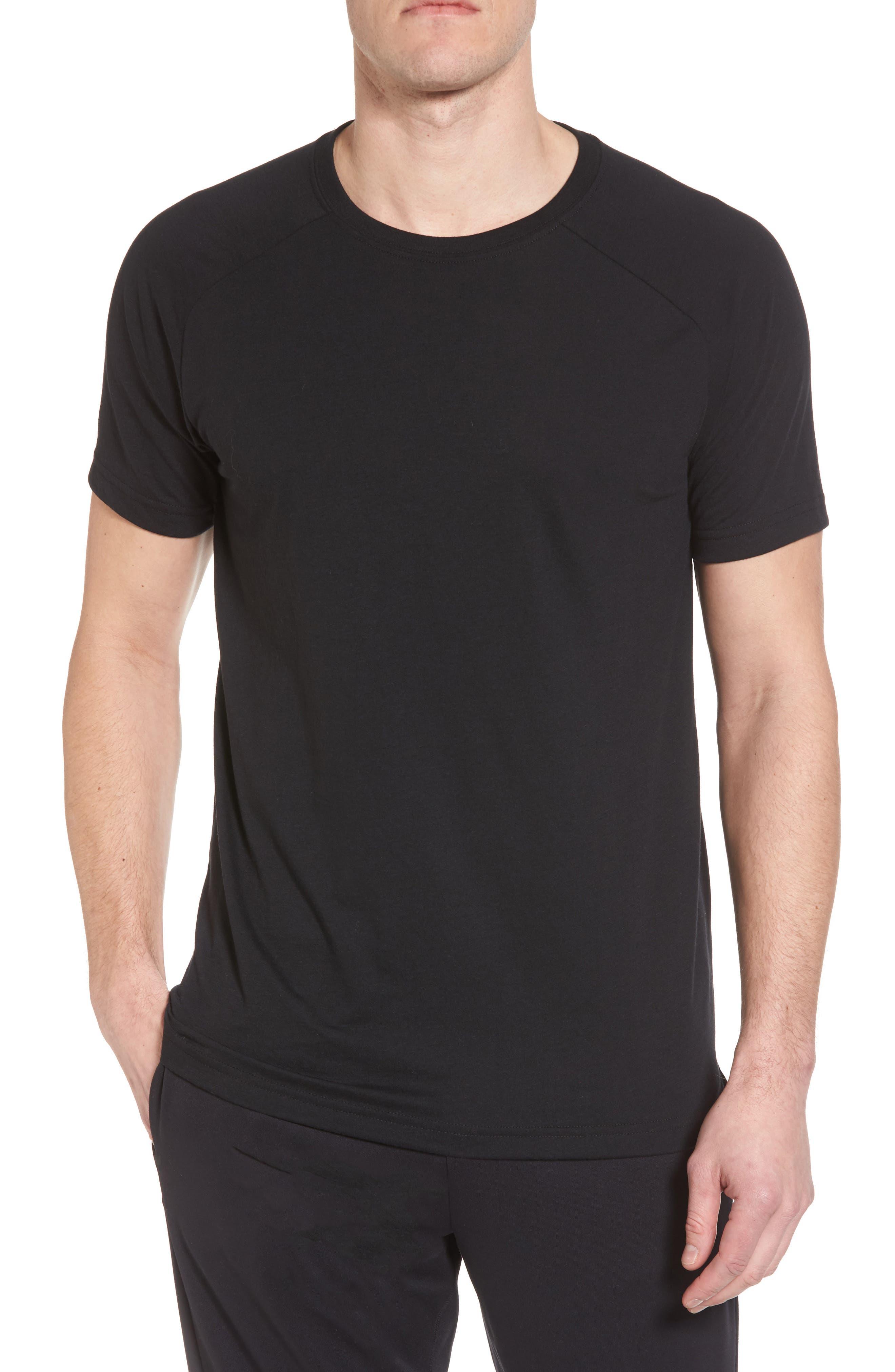 The Triumph Crewneck T-Shirt,                         Main,                         color, SOLID BLACK TRIBLEND