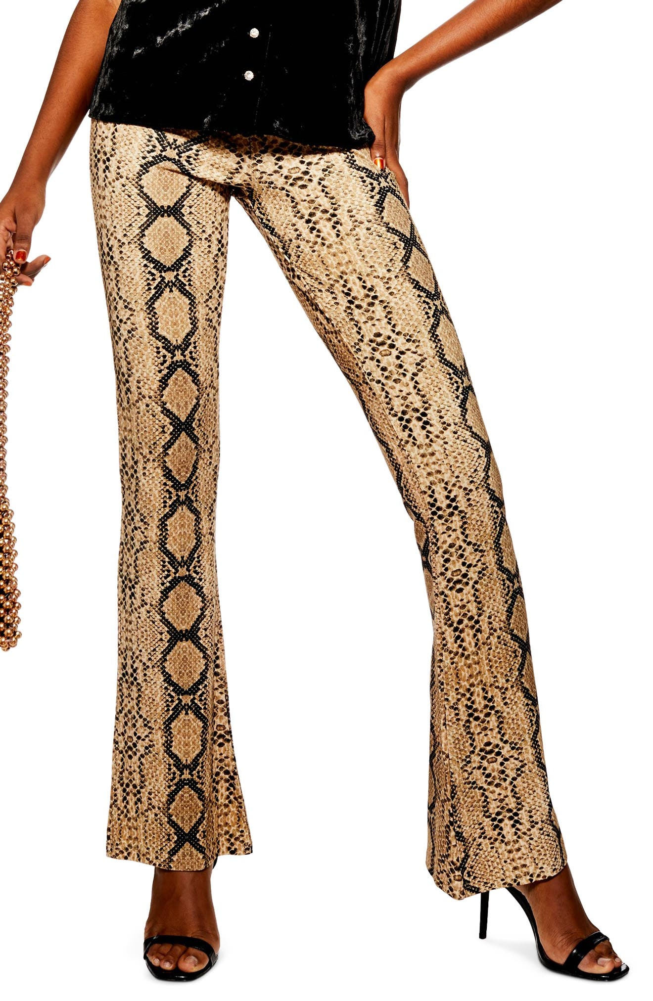 Snake Flare Trousers,                             Main thumbnail 1, color,                             250