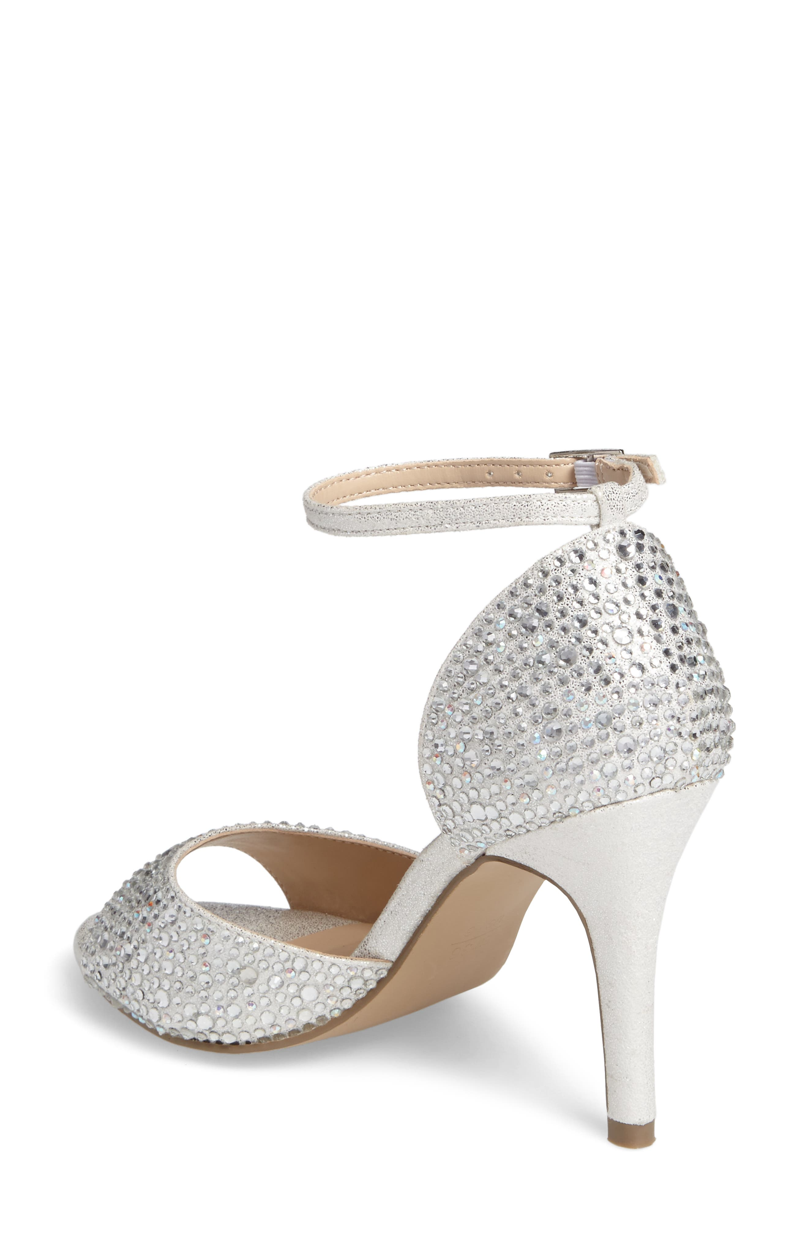 Mira Embellished Glitter Sandal,                             Alternate thumbnail 2, color,