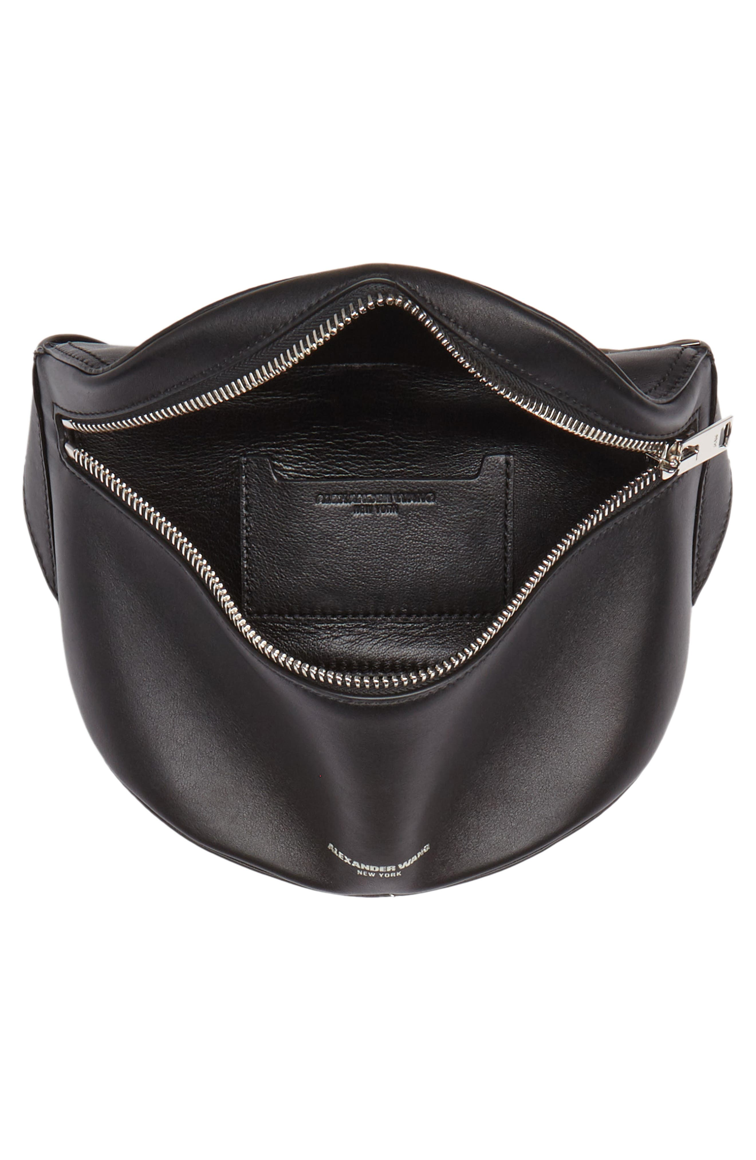 Leather Fanny Pack,                             Alternate thumbnail 5, color,                             001