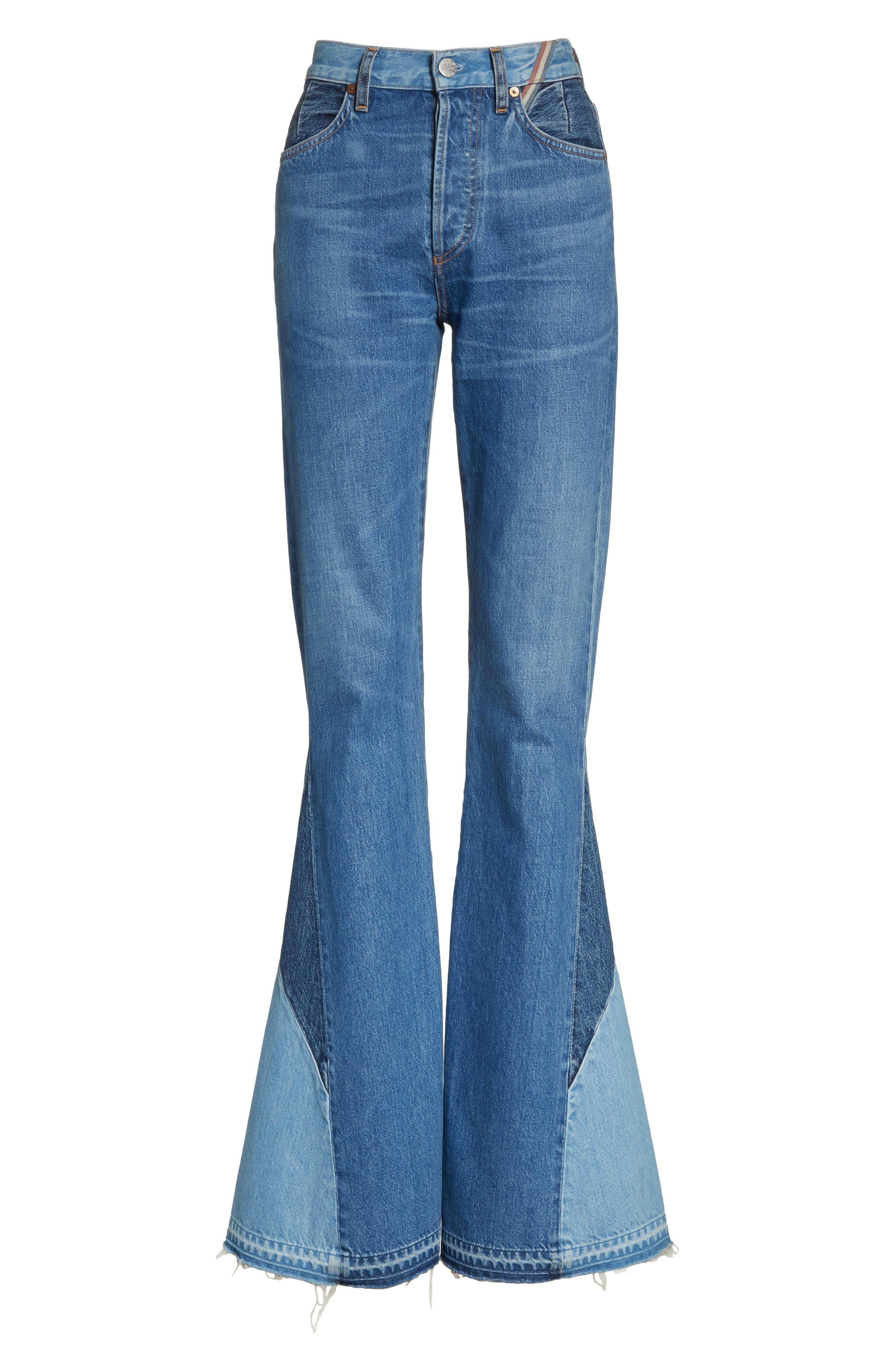 Janis High Rise Flare Jeans,                             Alternate thumbnail 7, color,                             JAGGER