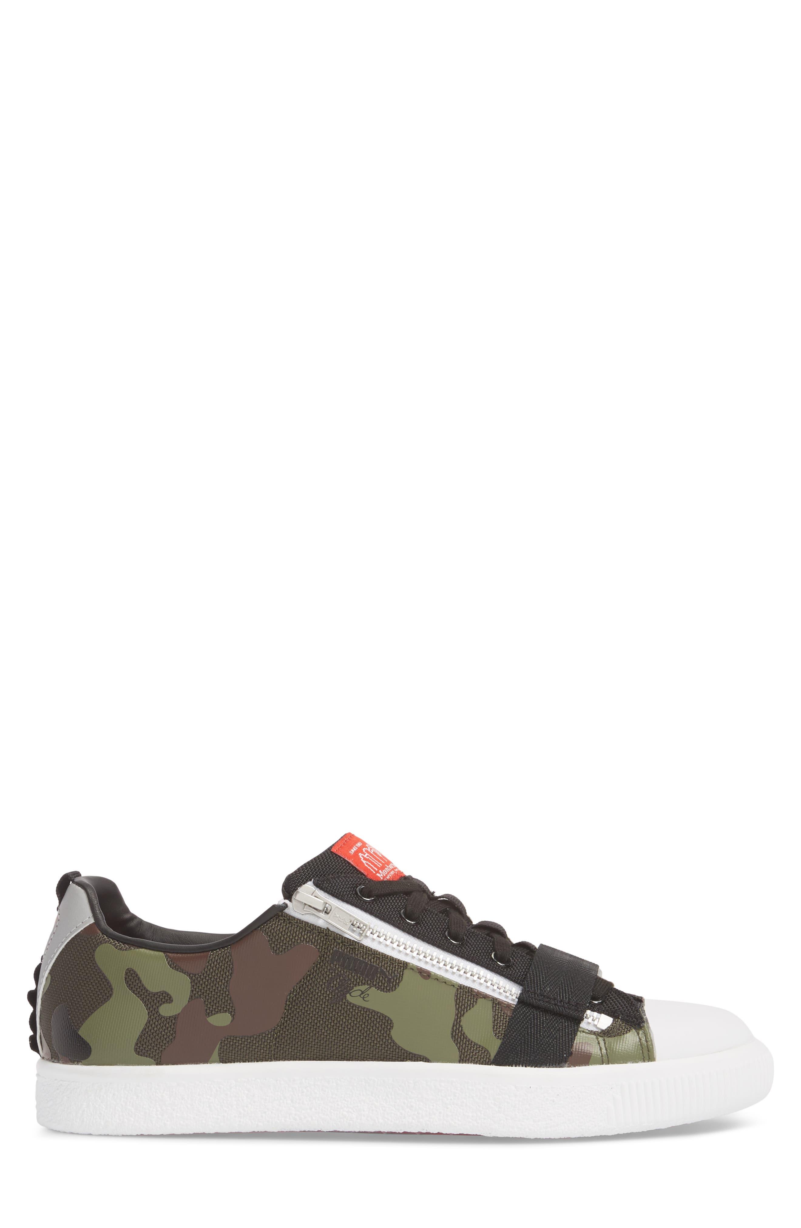 x MANHATTAN PORTAGE Clyde Zip Sneaker,                             Alternate thumbnail 3, color,                             300