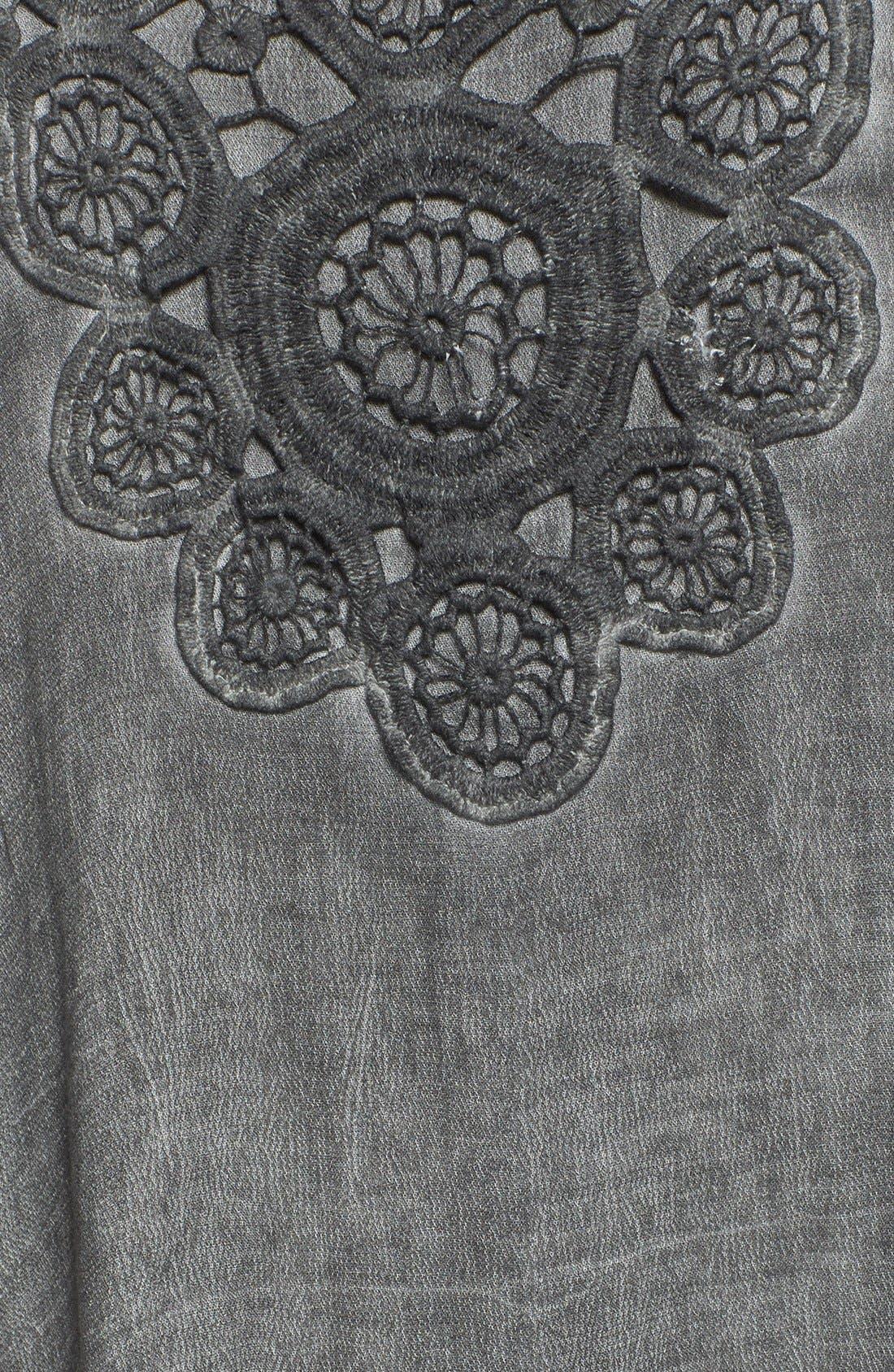 Crochet Yoke Tank Dress,                             Alternate thumbnail 2, color,                             050