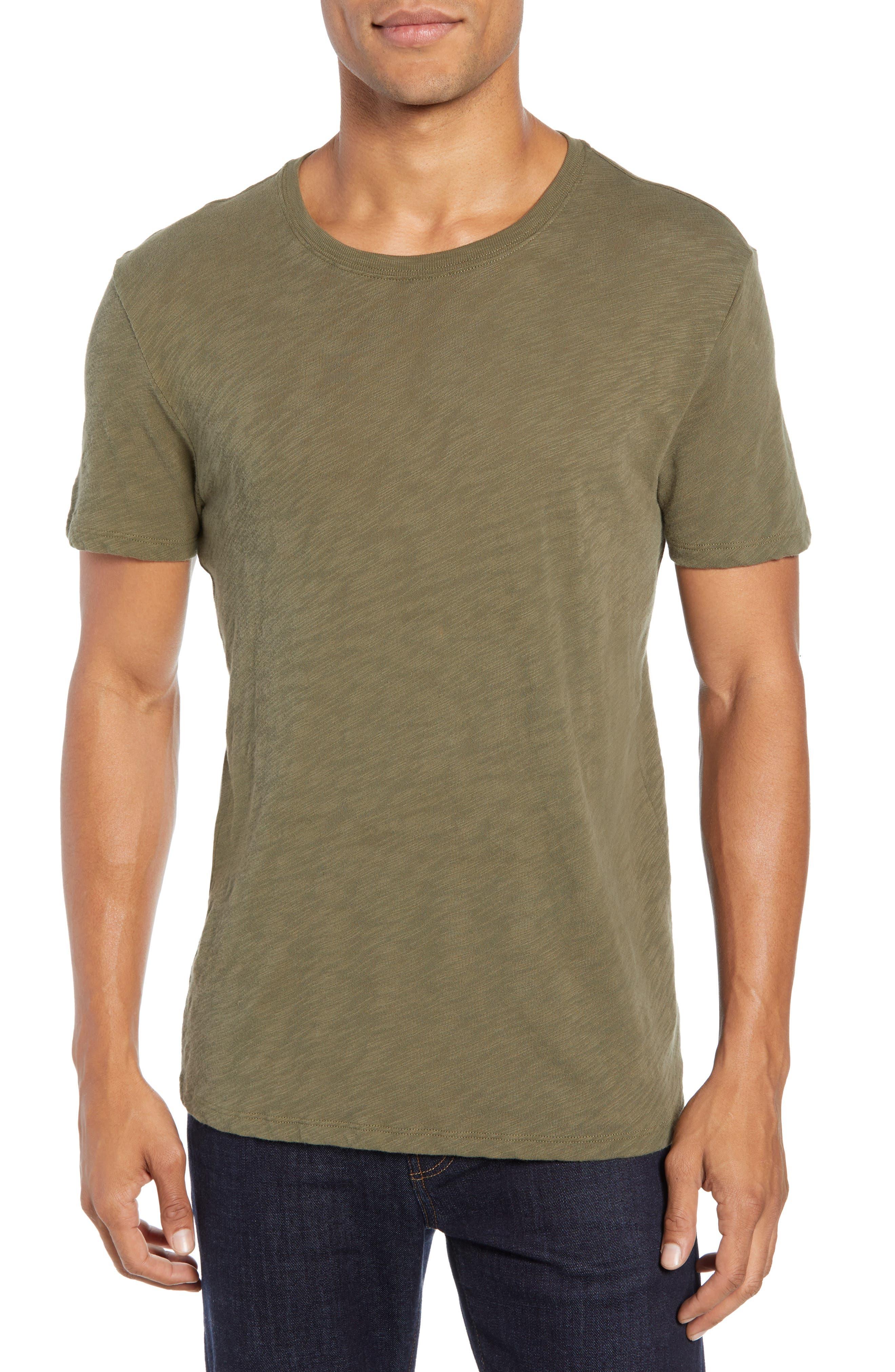 Crewneck T-Shirt,                         Main,                         color, FATIGUE