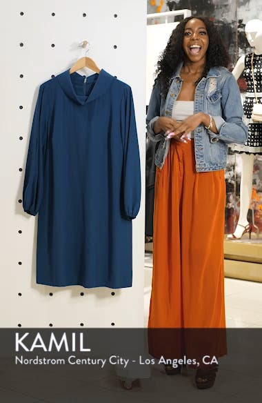 Long Split Sleeve Crepe Sheath Dress, sales video thumbnail