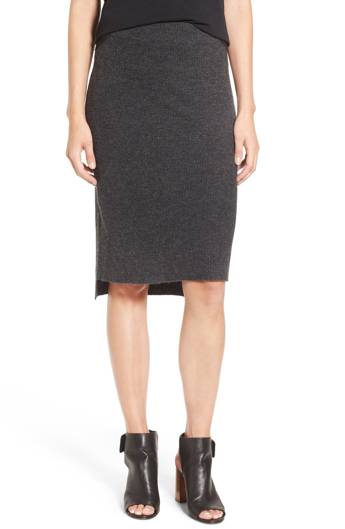 Rib Knit Sweater Skirt,                             Main thumbnail 1, color,                             030