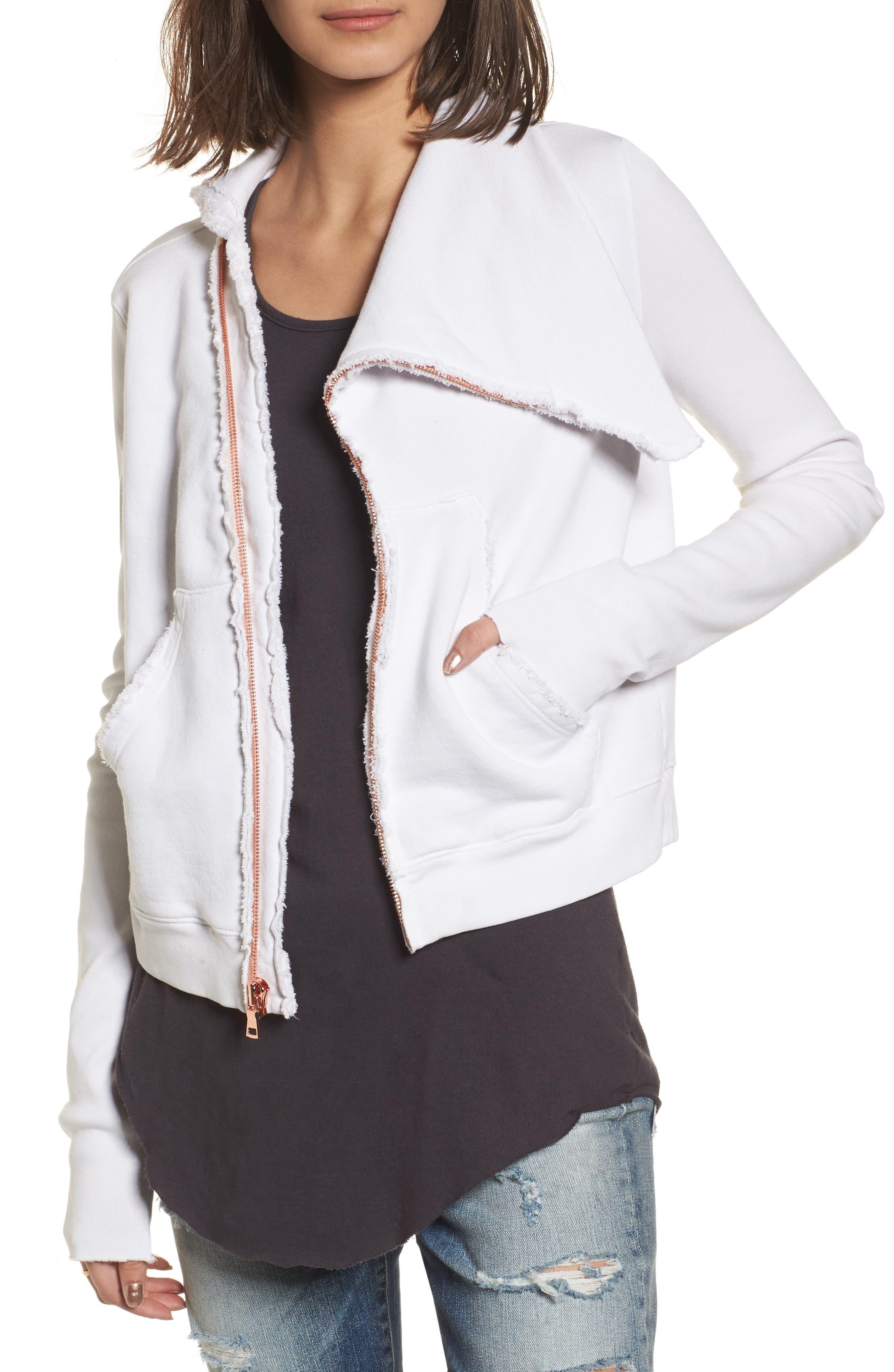 Frank & Eileen Tee Lab Zip Fleece Jacket, White