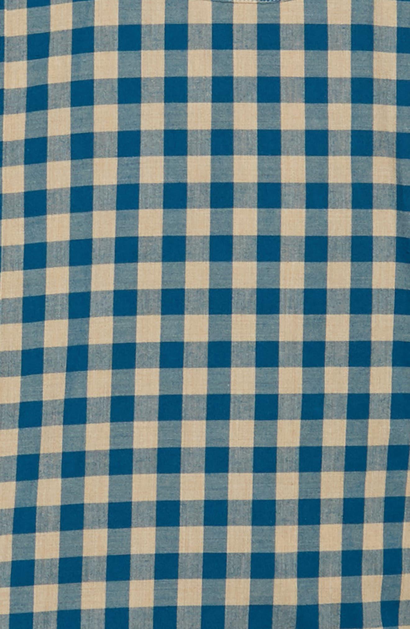 Slim Fit Stretch Secret Wash Heather Gingham Poplin Shirt,                             Alternate thumbnail 12, color,