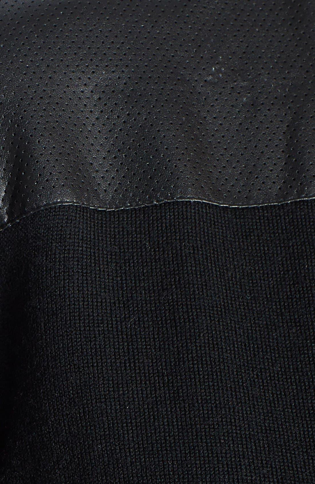 Merino Wool Cardigan,                             Alternate thumbnail 4, color,                             001