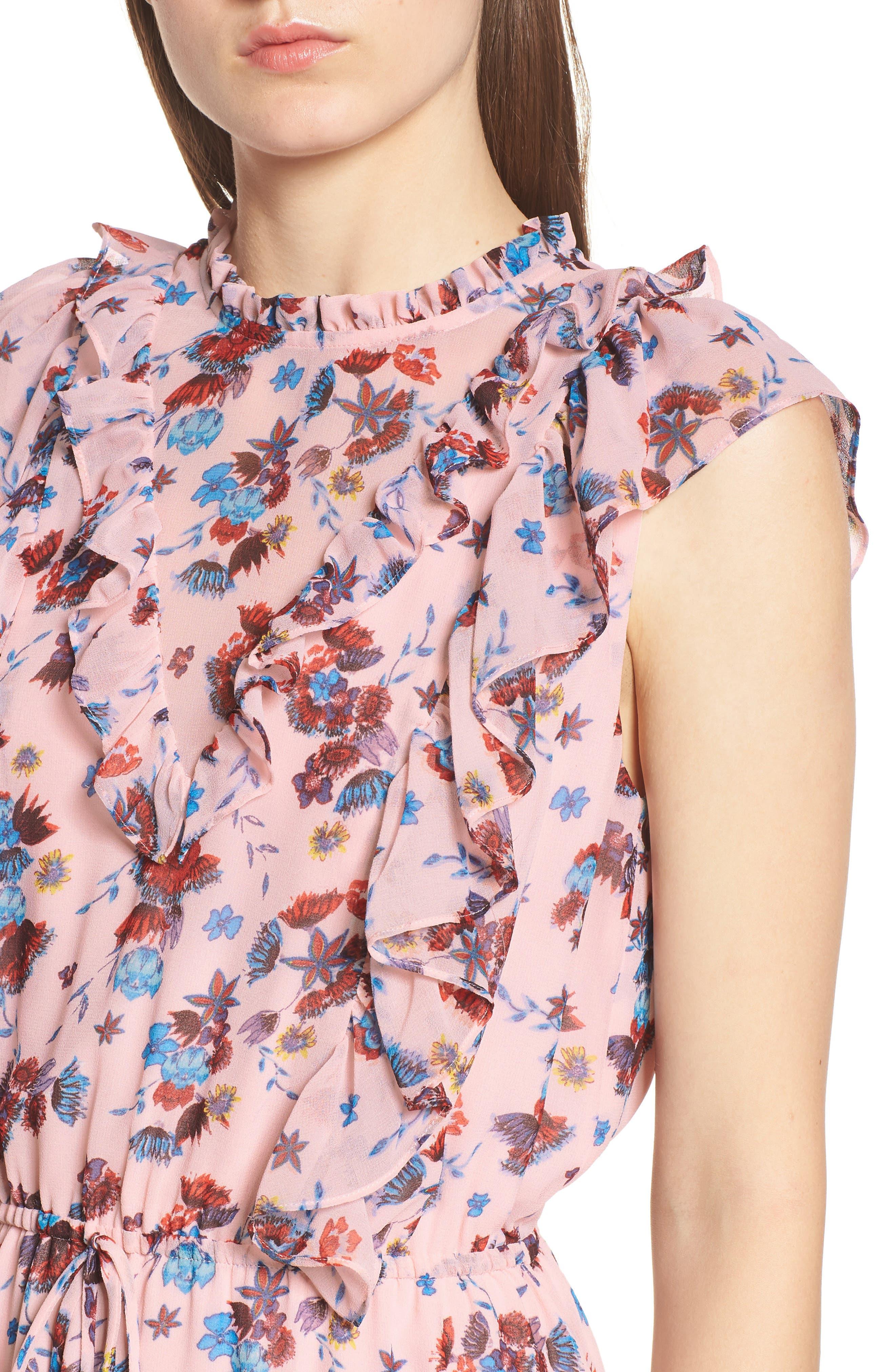 Kika Dress,                             Alternate thumbnail 4, color,                             PINK MULTI