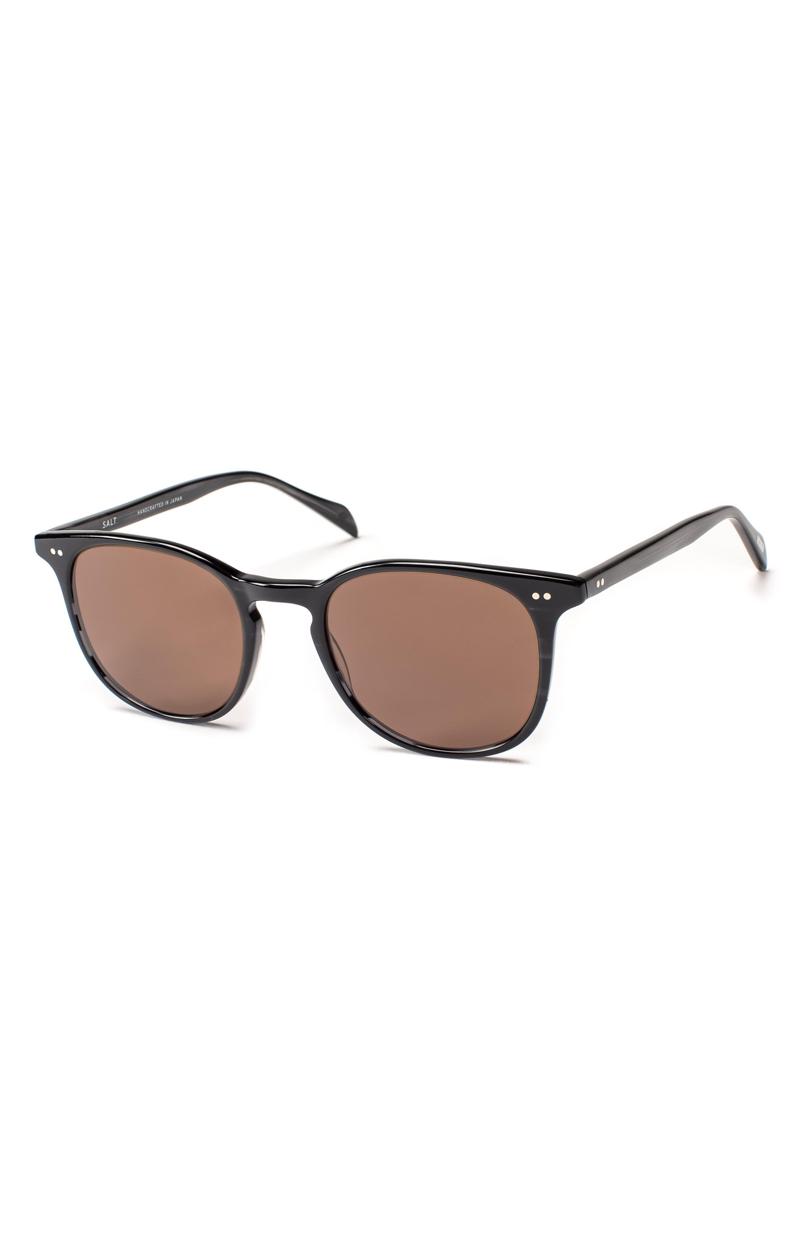 Trevor 49mm Polarized Sunglasses,                             Main thumbnail 1, color,                             BLACK