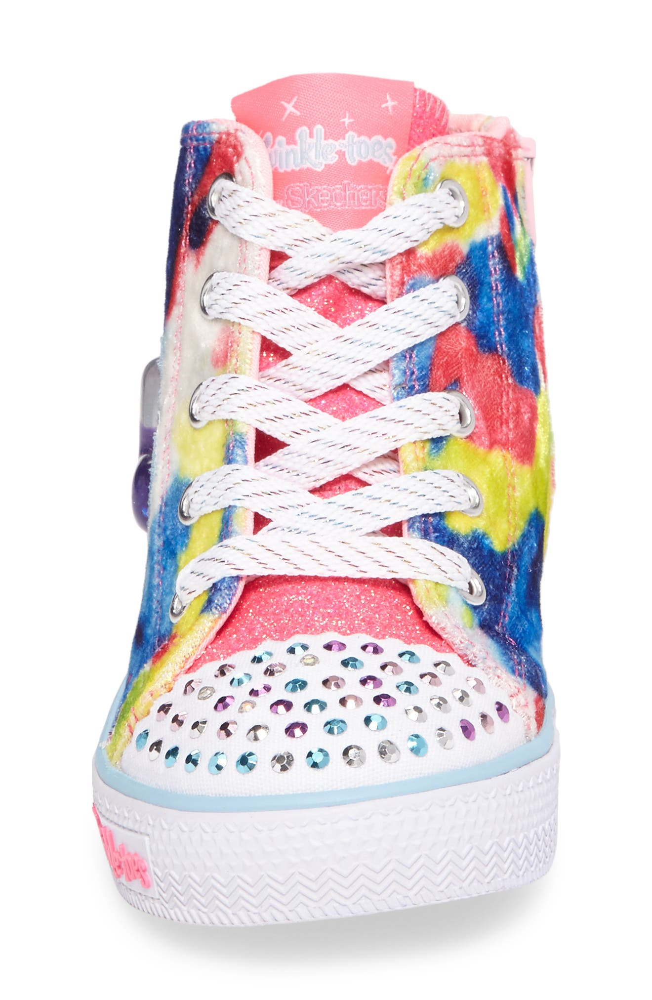 Twinkle Toes Shuffles Light-Up High Top Sneaker,                             Alternate thumbnail 8, color,