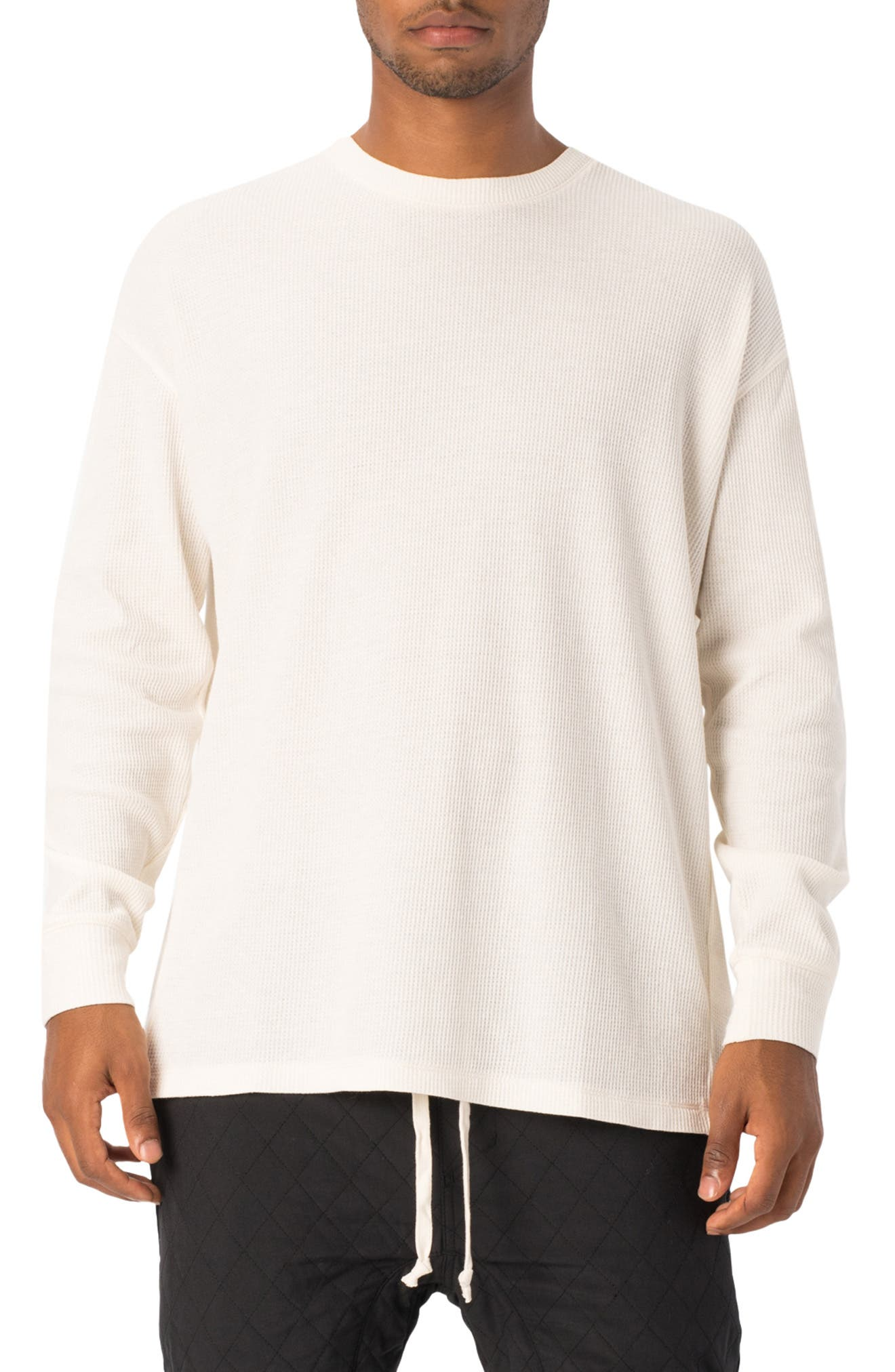 Rugger Waffle Knit Long Sleeve T-Shirt,                             Main thumbnail 1, color,                             BONE