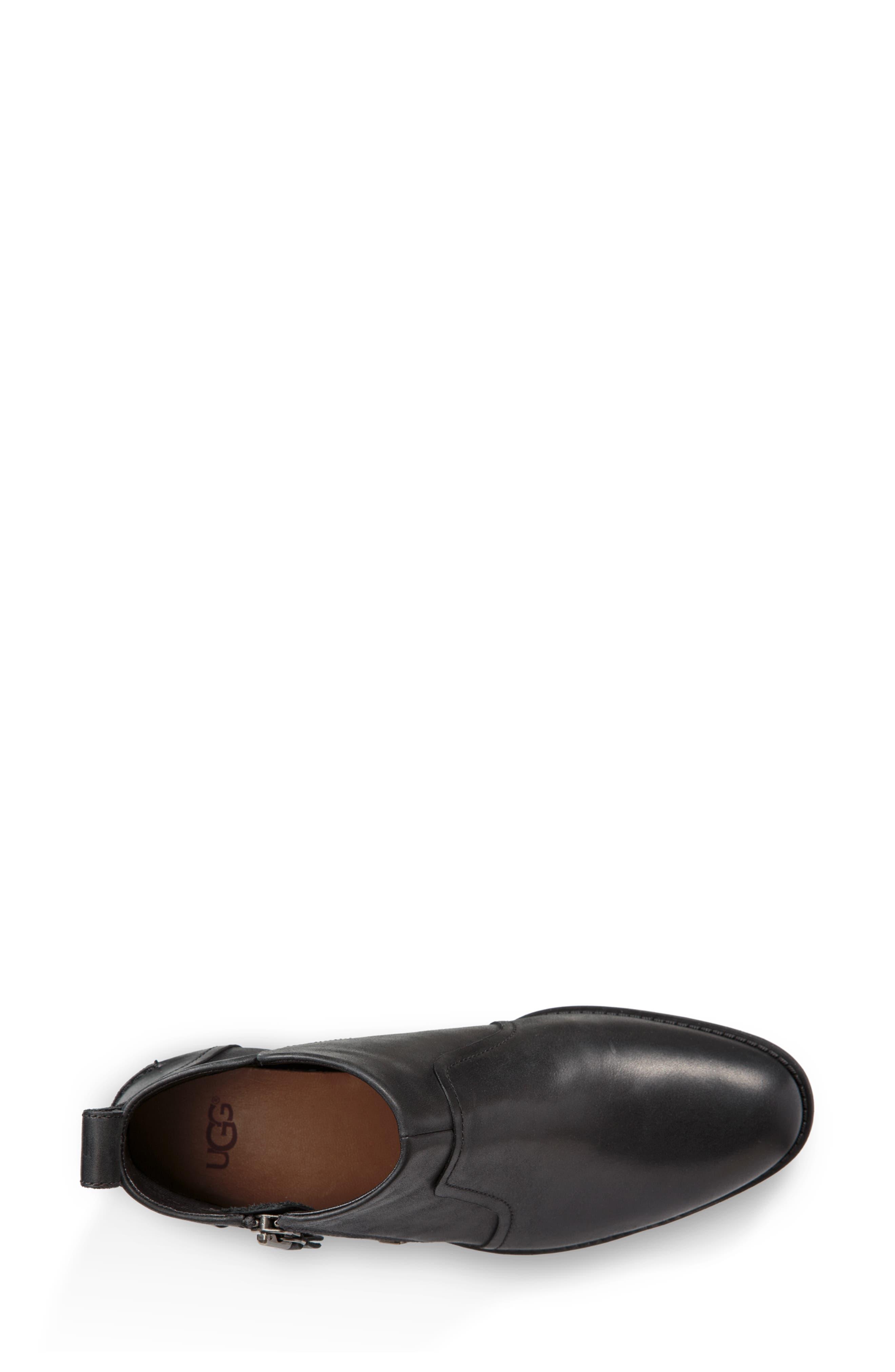 Aureo Bootie,                             Alternate thumbnail 4, color,                             BLACK/ BLACK LEATHER