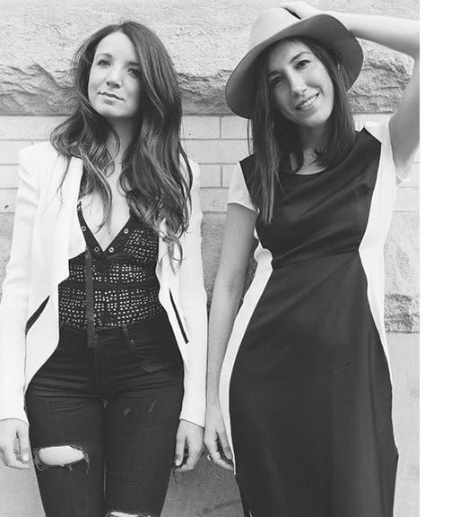 Negative Underwear founders Marissa Vosper and Lauren Schwab.