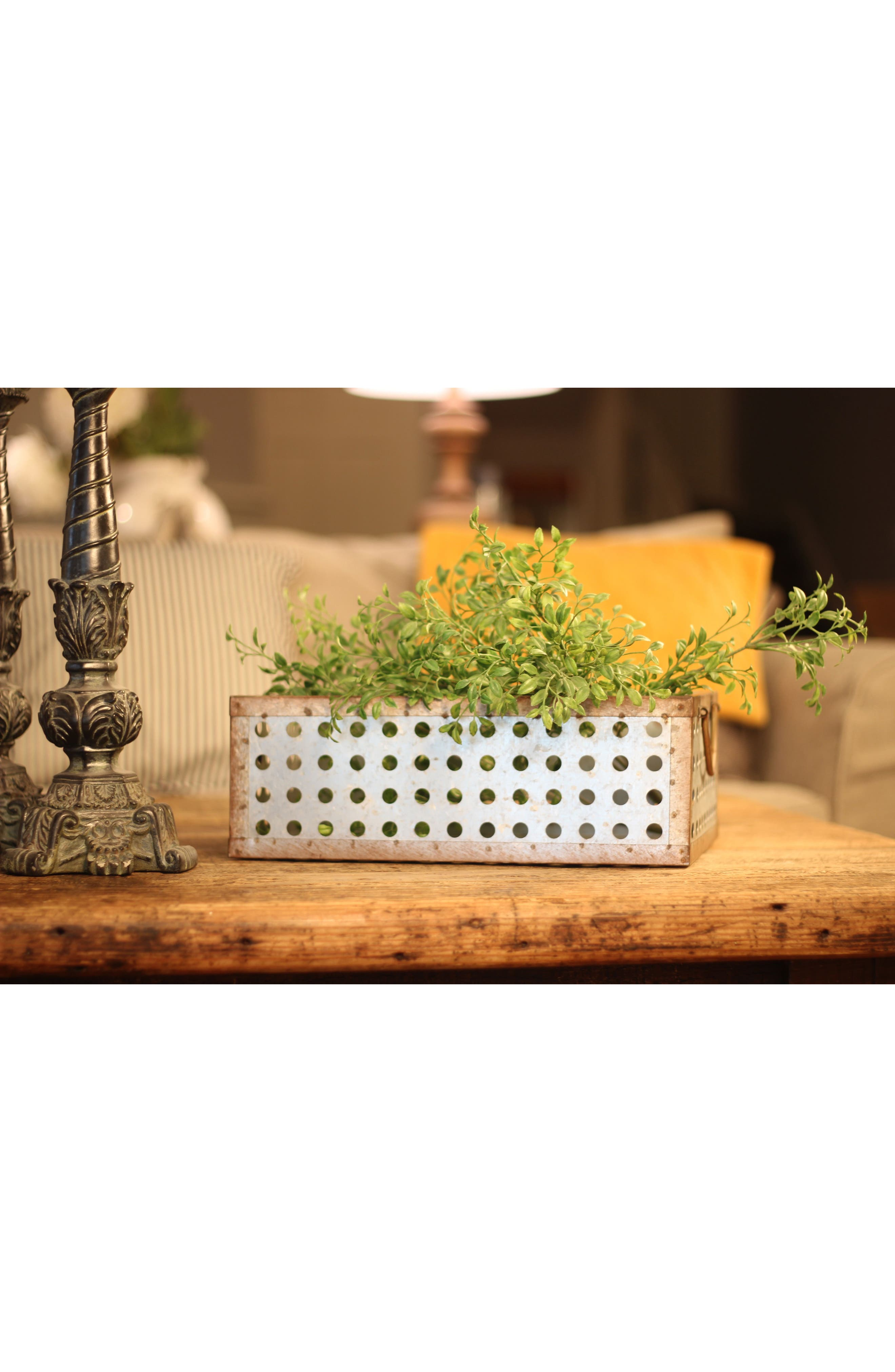 Set of 3 Perforated Baskets,                             Alternate thumbnail 2, color,                             METAL