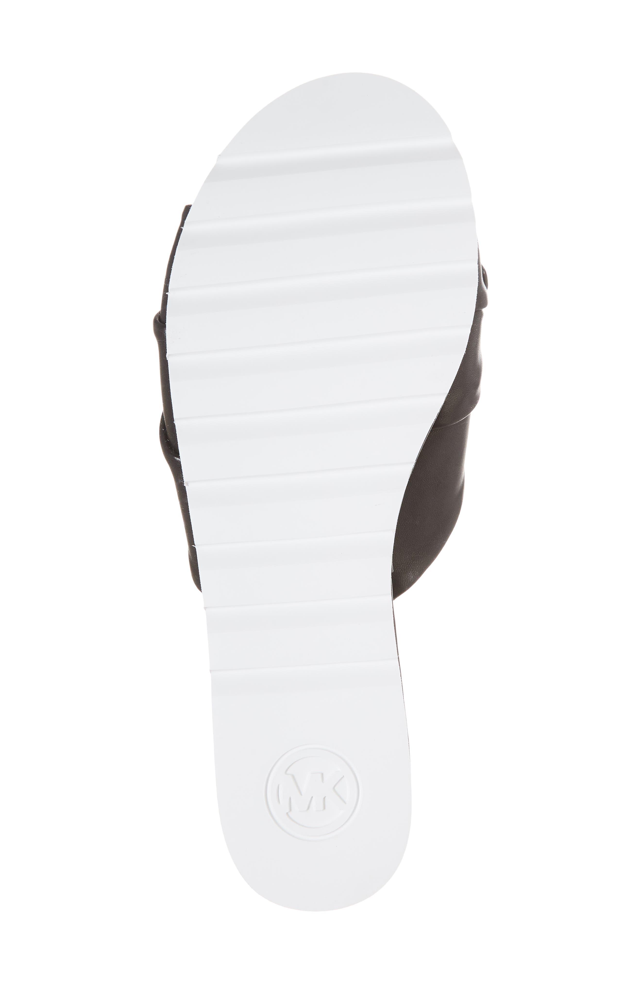 MICHAEL MICHAEL KORS,                             Pippa Platform Slide Sandal,                             Alternate thumbnail 6, color,                             001