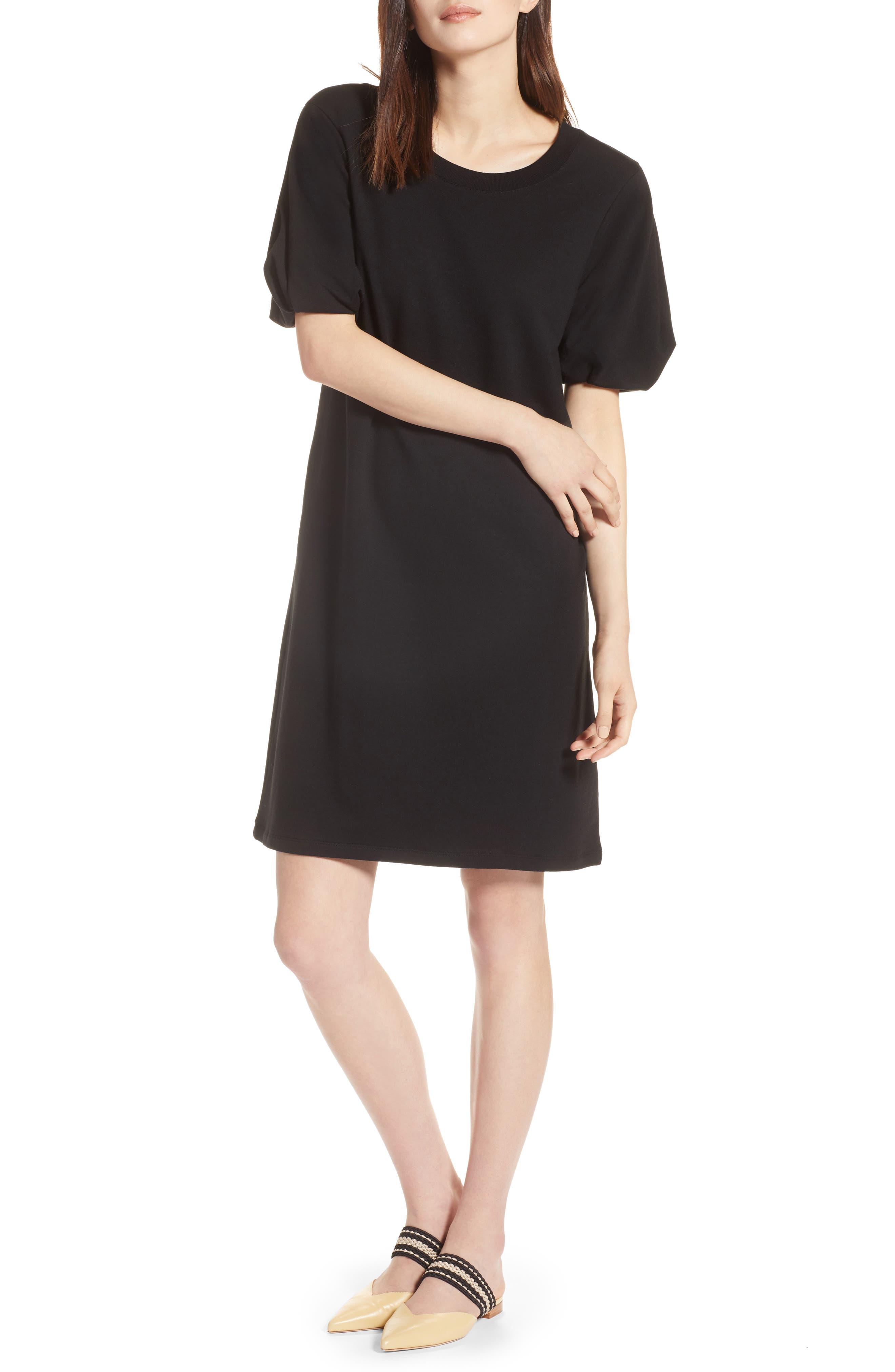 Bubble Sleeve Dress,                             Main thumbnail 1, color,