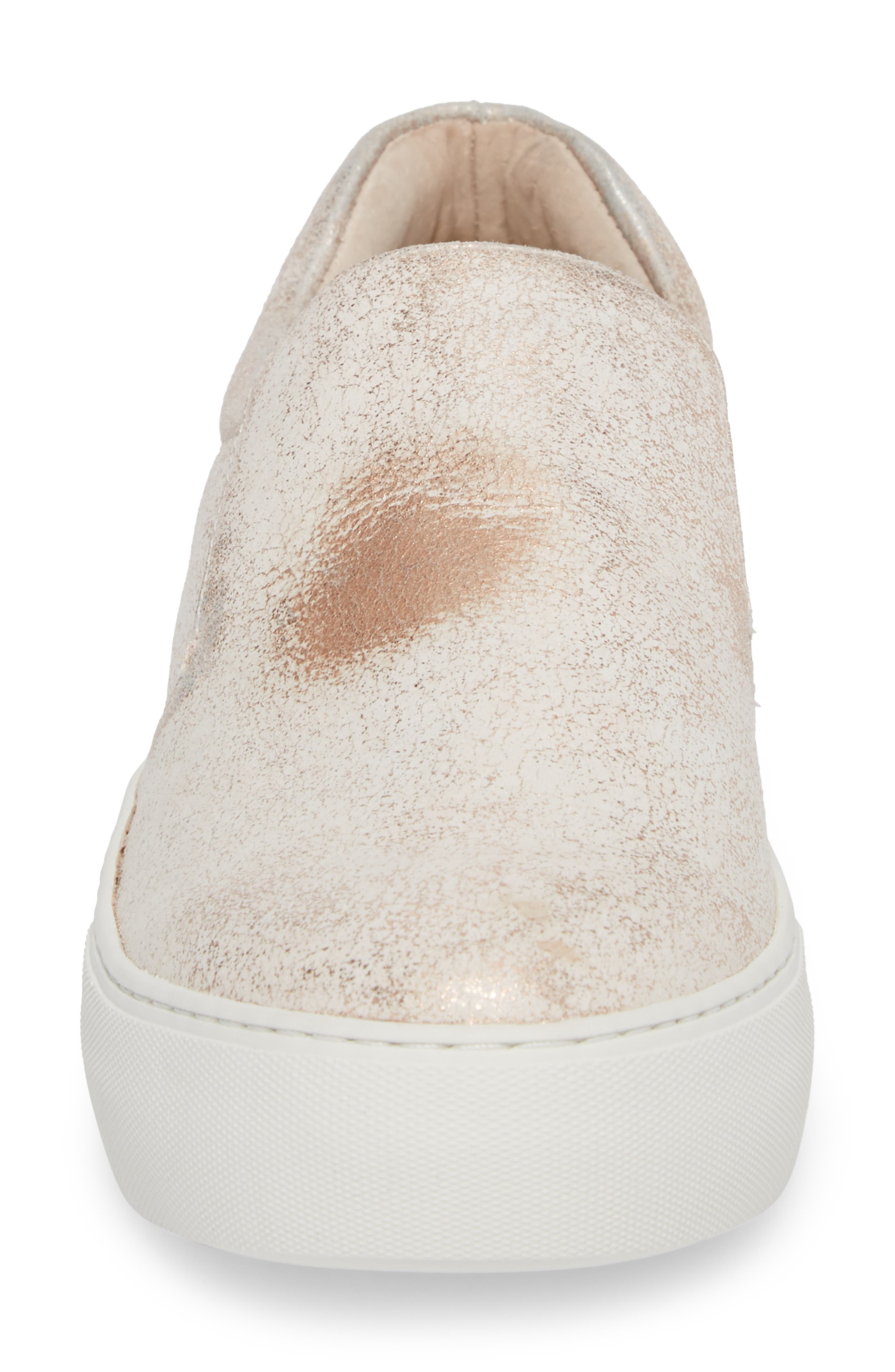 Acer Slip-On Sneaker,                             Alternate thumbnail 4, color,                             SOFT PINK SUEDE
