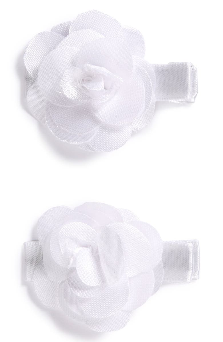 Plh Bows Set Of 2 Flower Hair Clips Baby Girls Nordstrom