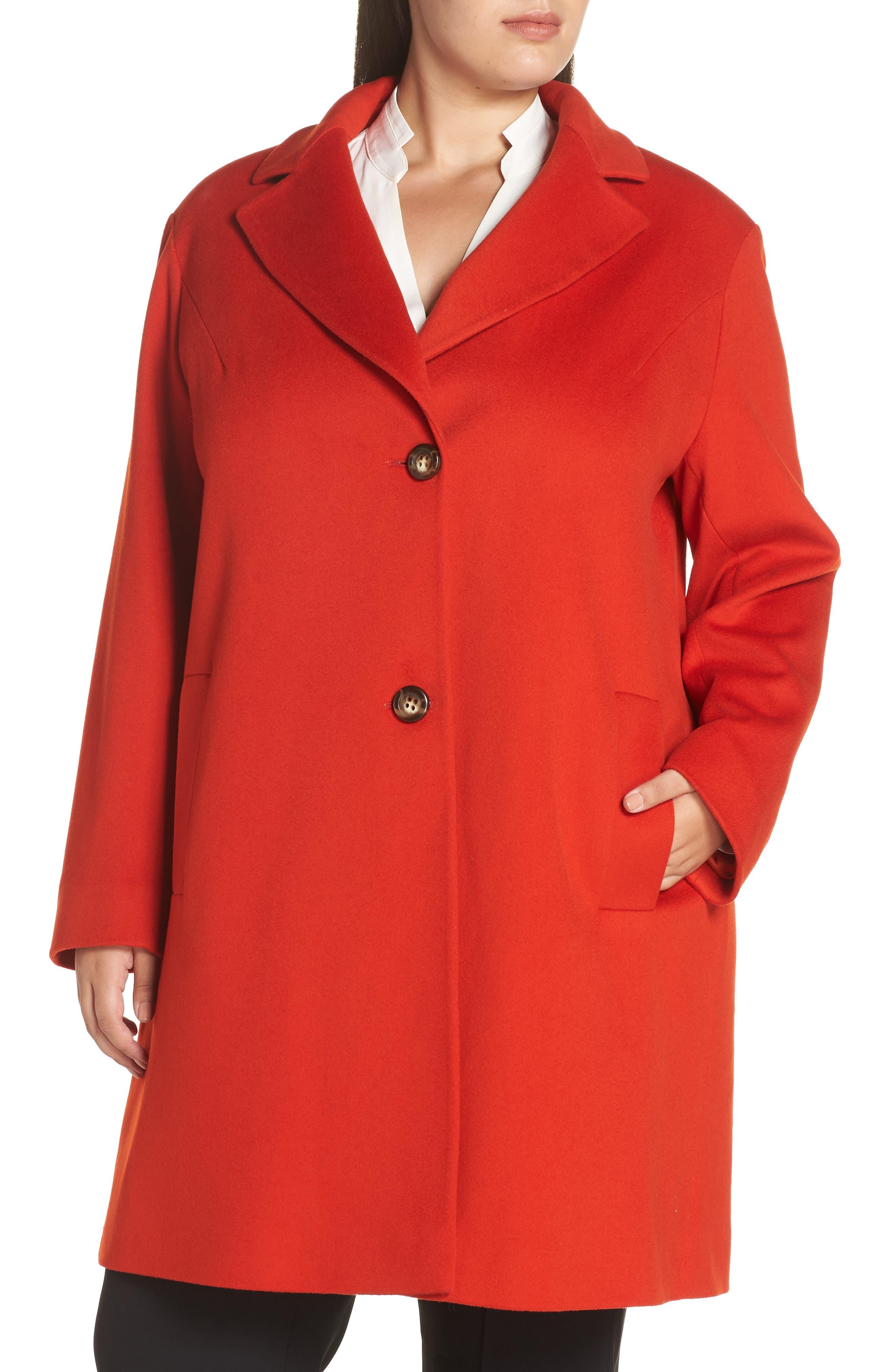 FLEURETTE,                             Loro Piana Wool Long Coat,                             Alternate thumbnail 5, color,                             SAFFRON