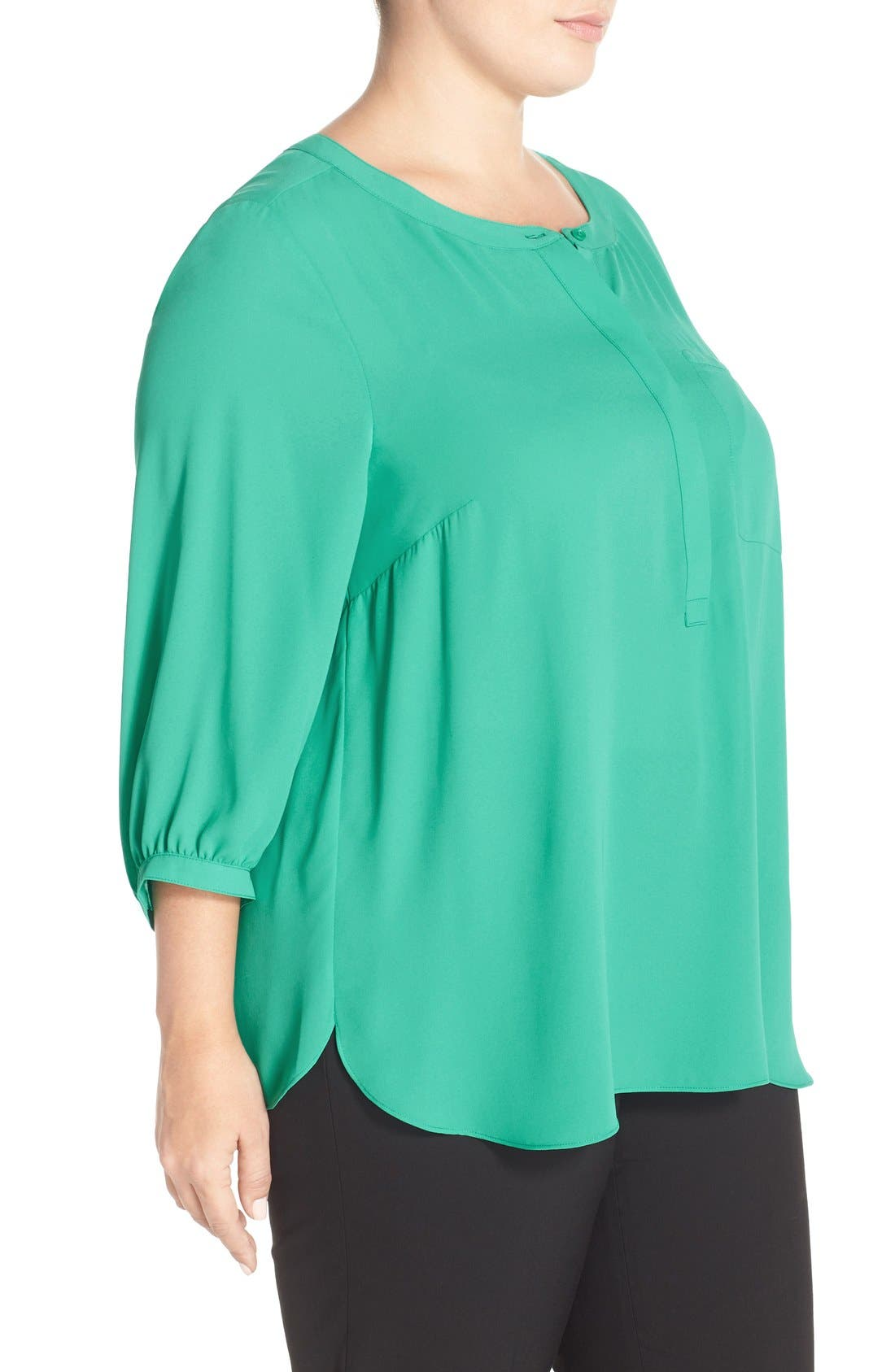 Henley Top,                             Alternate thumbnail 124, color,