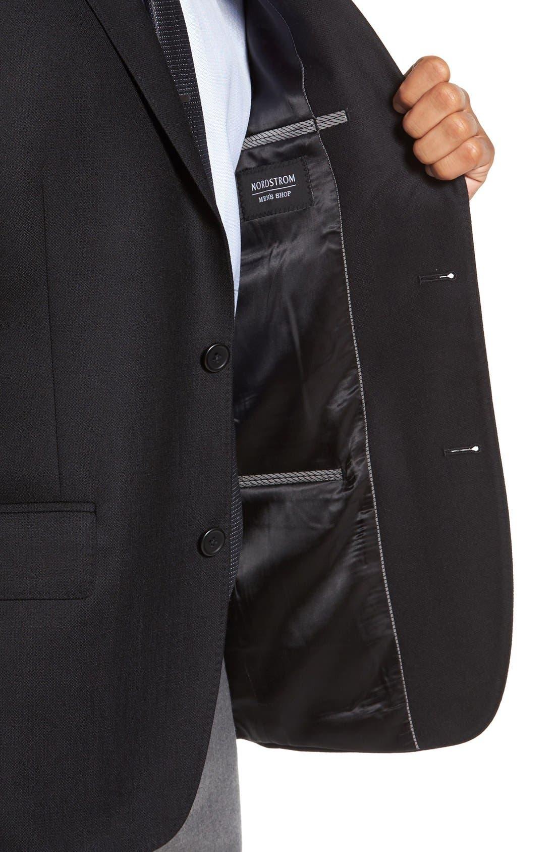 Classic Fit Wool & Cashmere Blazer,                             Alternate thumbnail 4, color,                             001