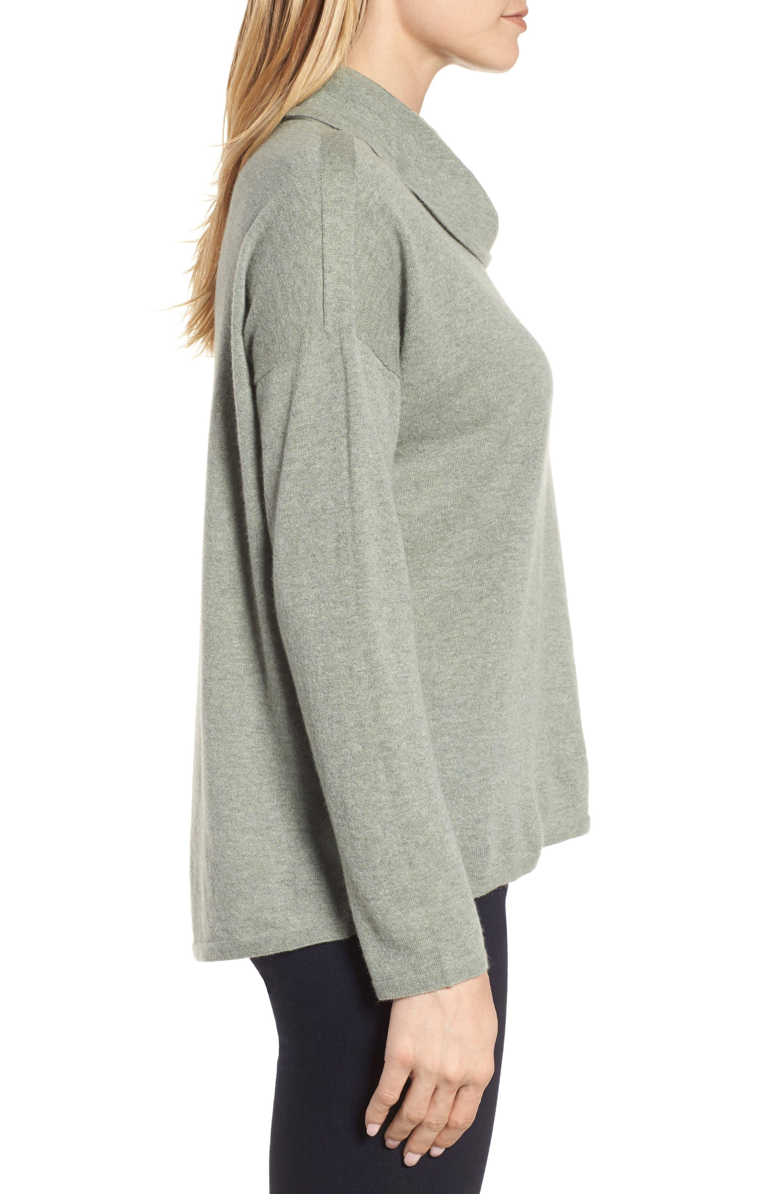 Boxy Cashmere Sweater,                             Alternate thumbnail 3, color,                             094