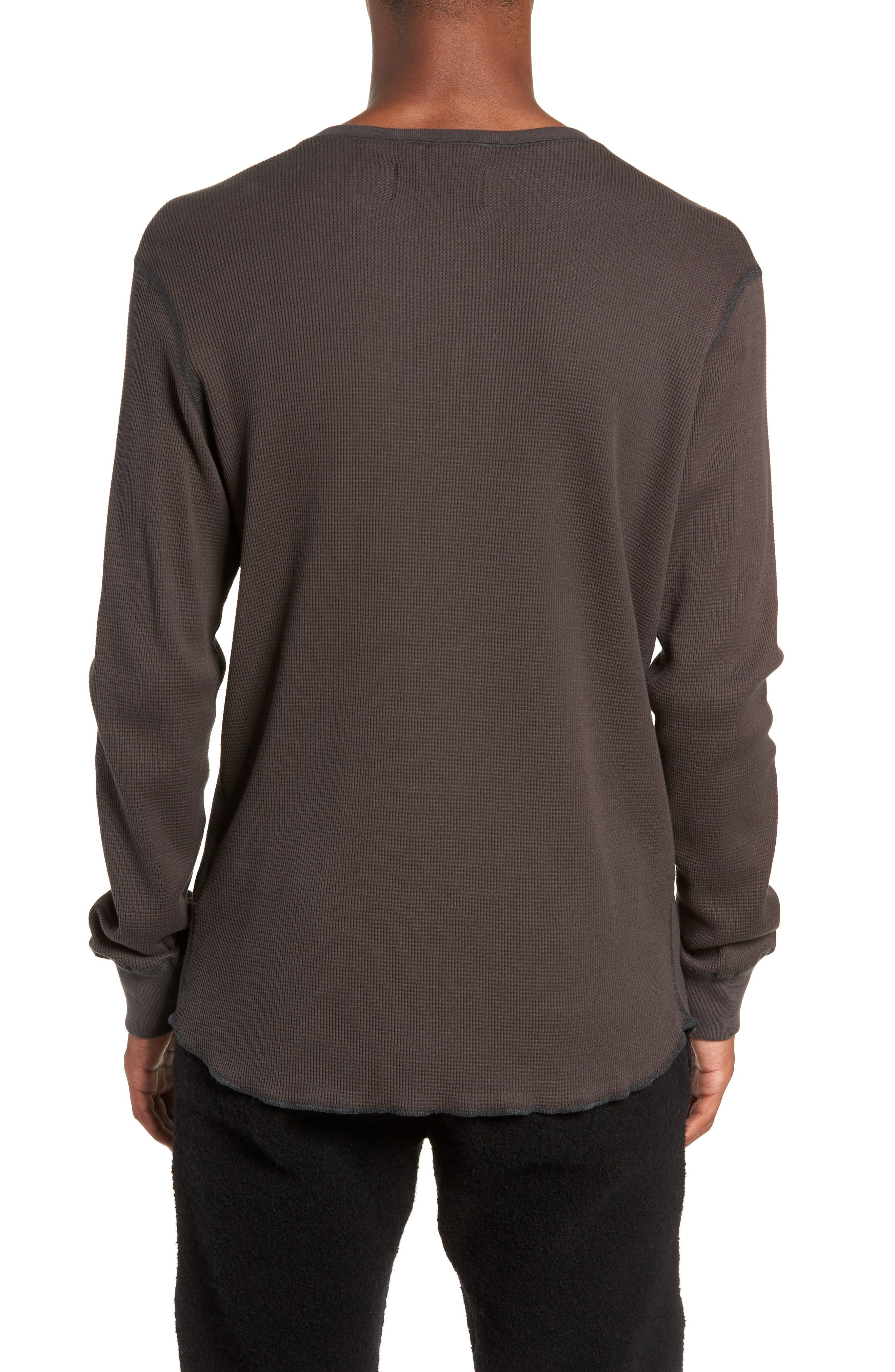 WINGS + HORNS,                             Long Sleeve Thermal Henley,                             Alternate thumbnail 2, color,                             STONE