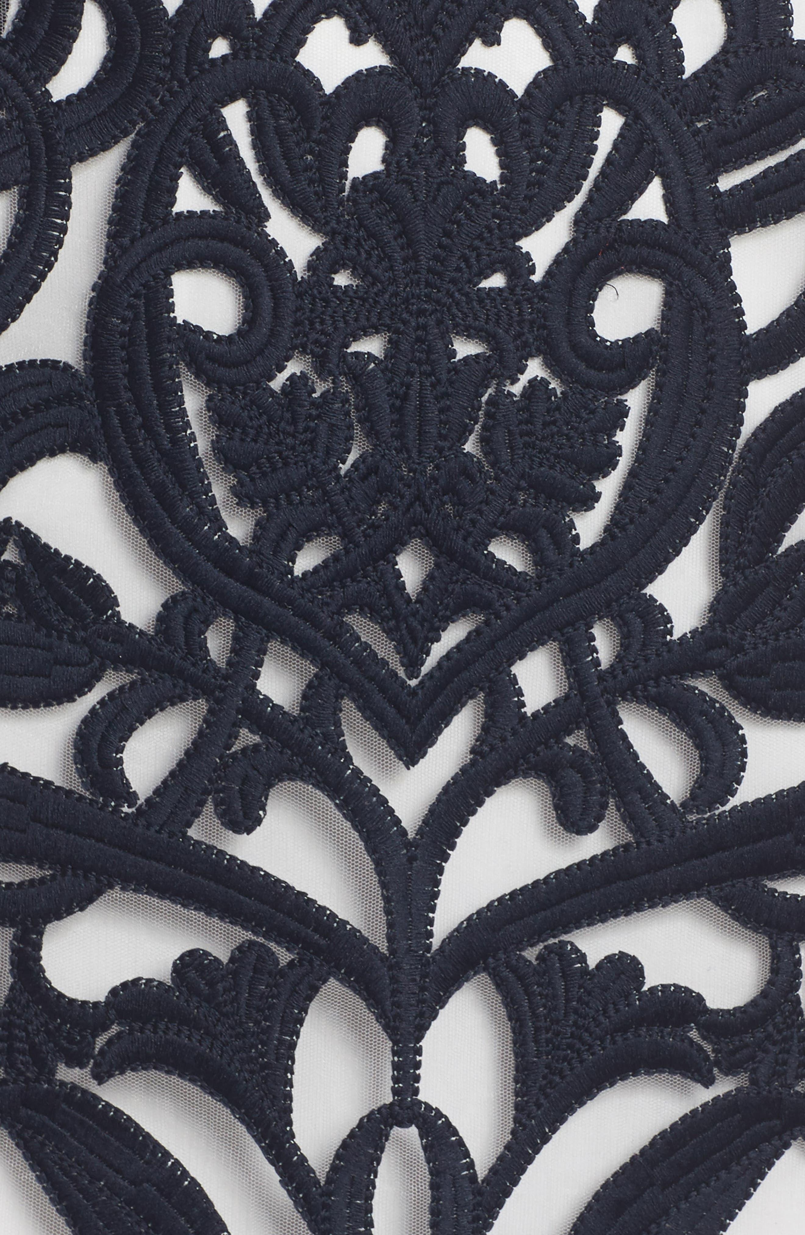 Rosabel Embroidered Midi Dress,                             Alternate thumbnail 5, color,                             410