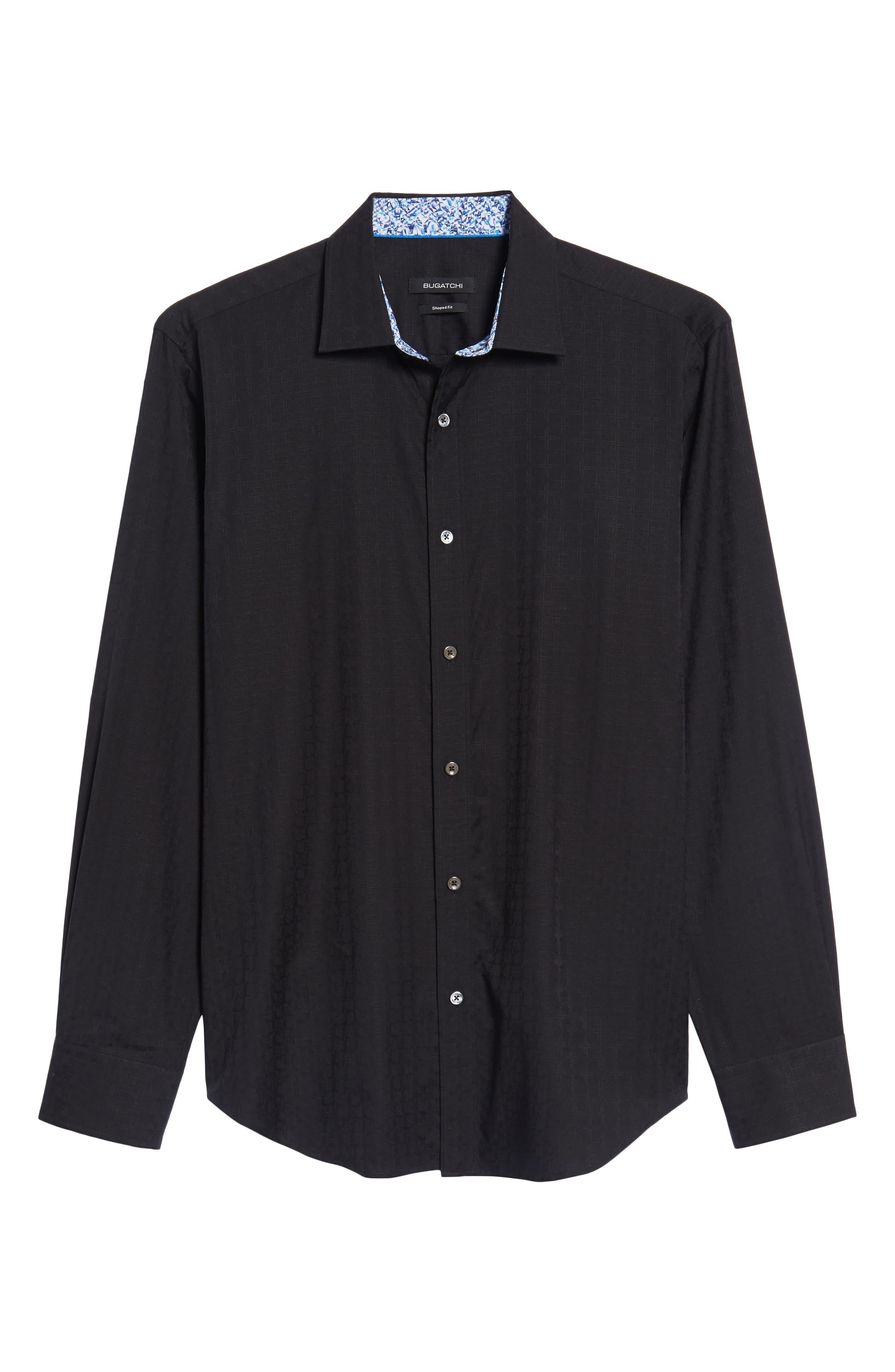 Classic Fit Check Sport Shirt,                             Alternate thumbnail 6, color,                             001