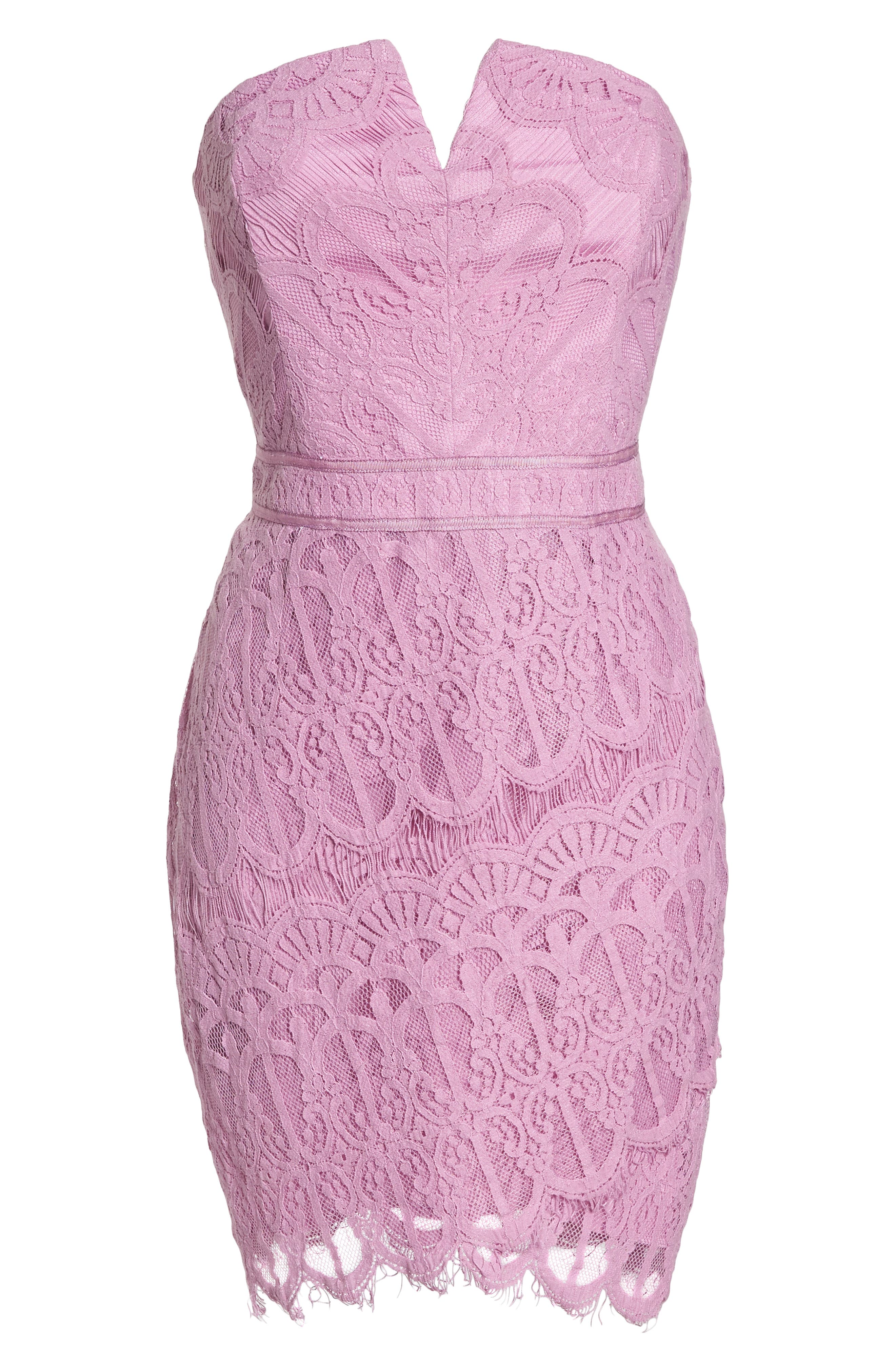 Strapless Lace Dress,                             Alternate thumbnail 7, color,                             532