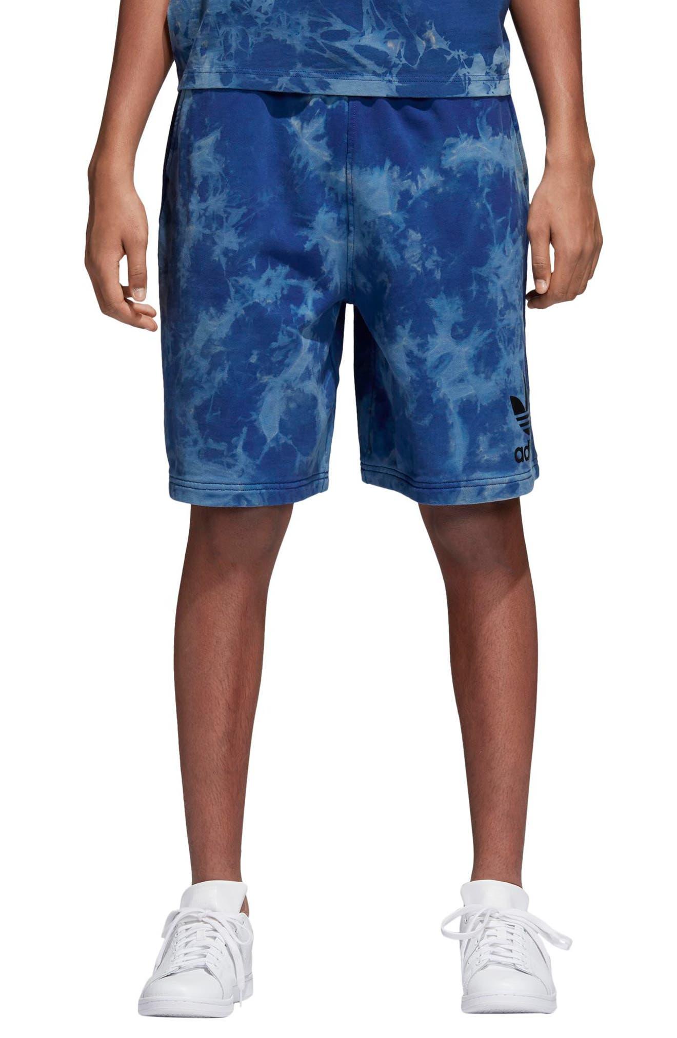 Tie Dye Shorts,                         Main,                         color, LEGEND INK