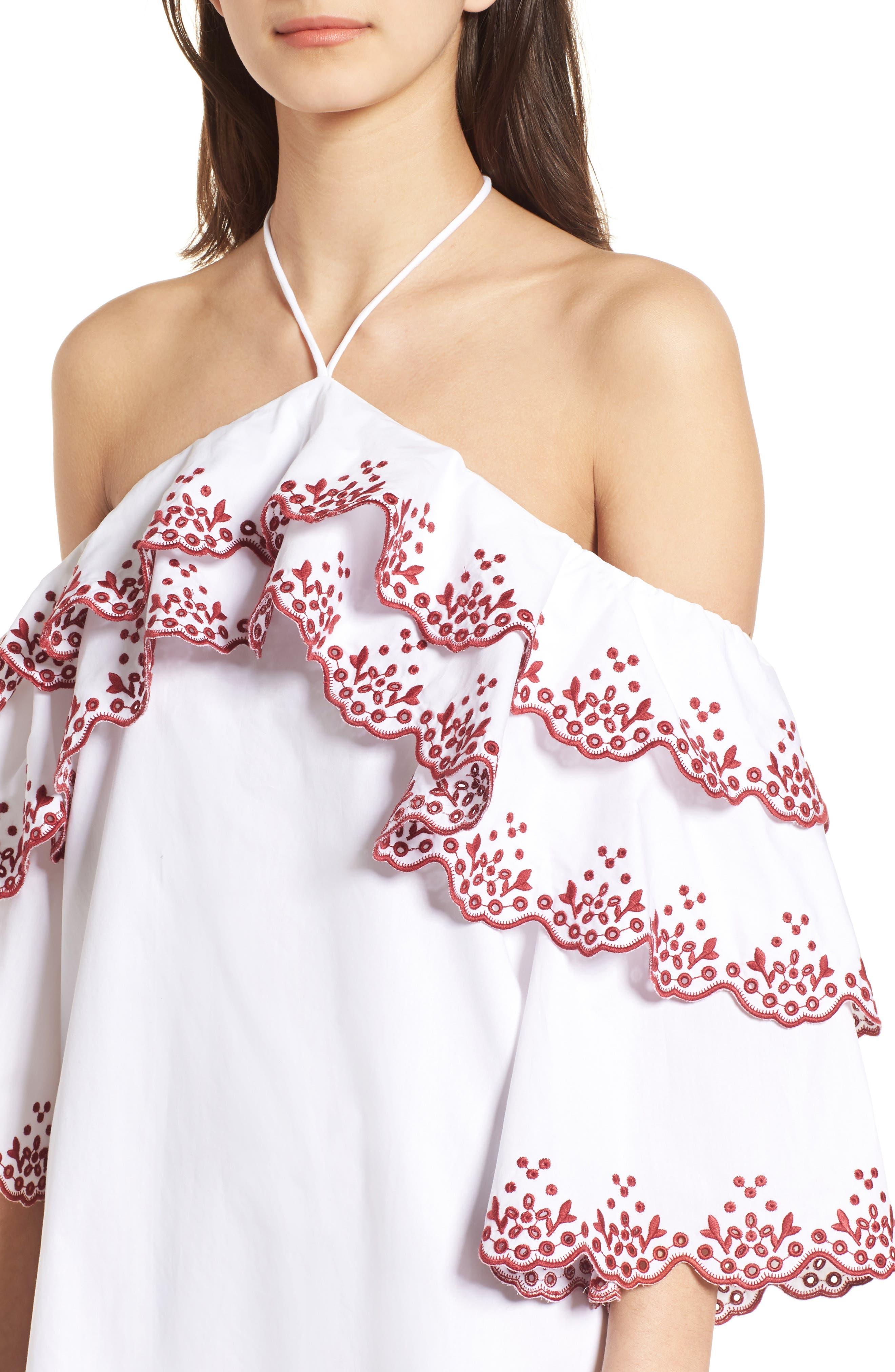 Dena Halter Dress,                             Alternate thumbnail 4, color,                             133
