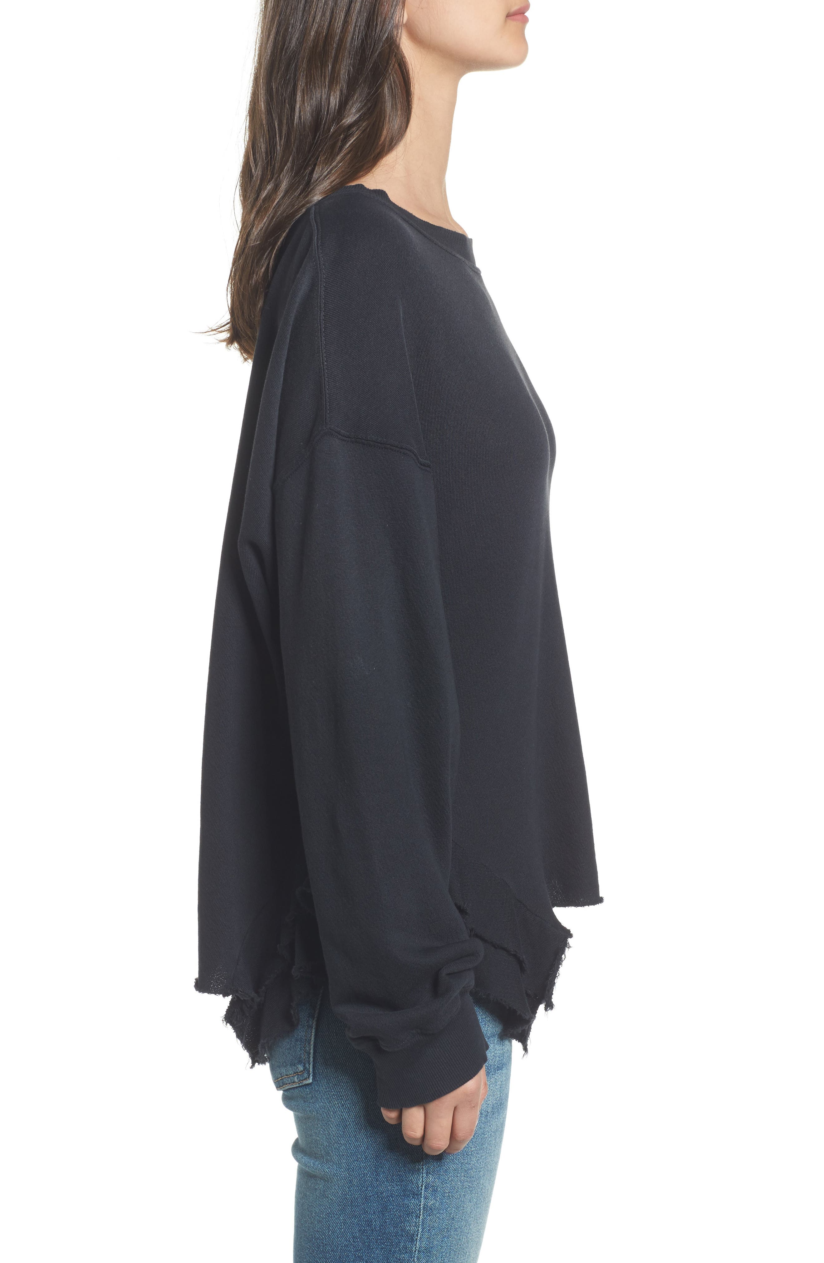 The Slouchy Ruffle Sweatshirt,                             Alternate thumbnail 3, color,                             006