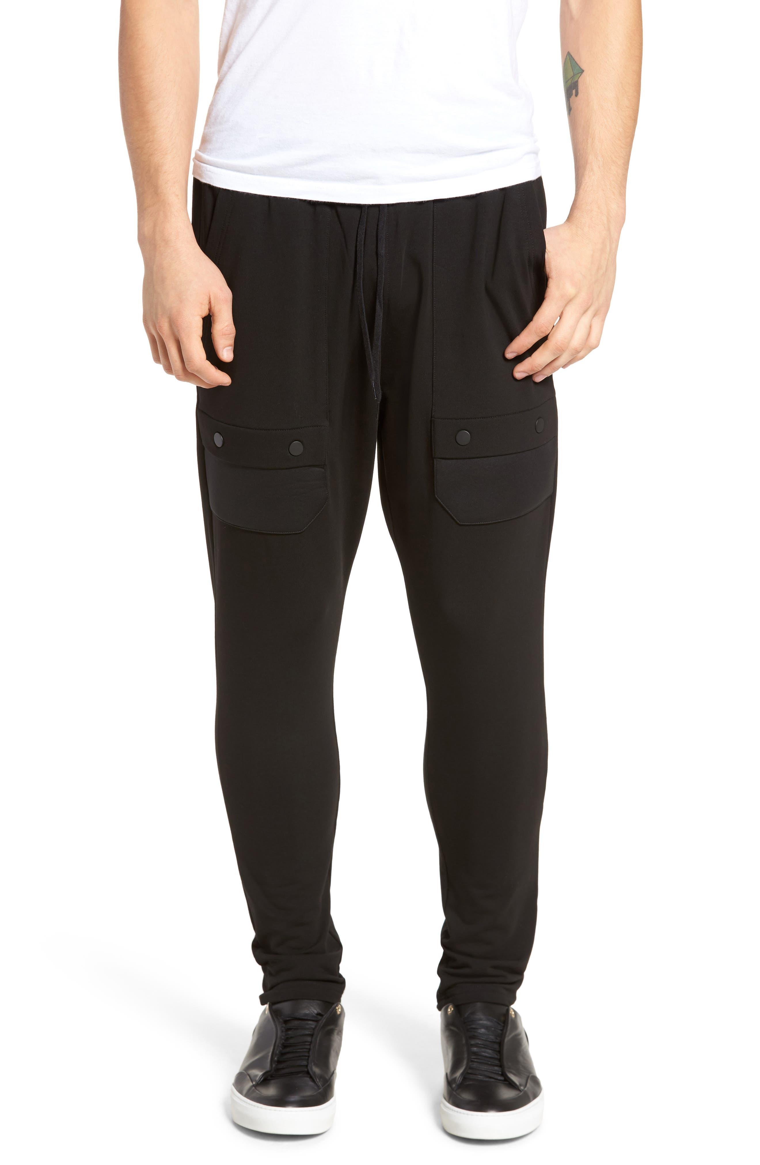 Fleece Cargo Pants,                             Main thumbnail 1, color,                             001
