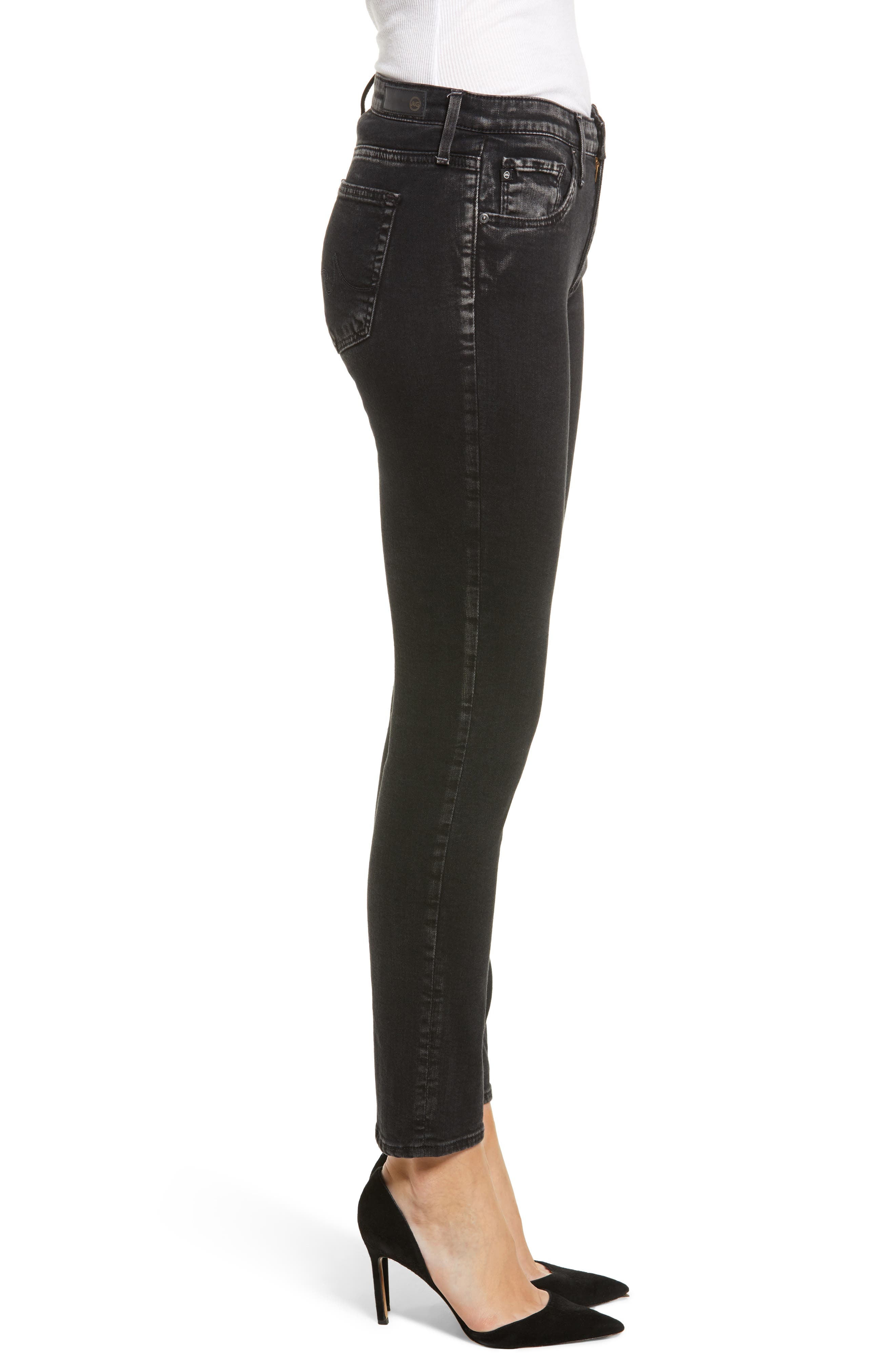 The Legging Ankle Super Skinny Jeans,                             Alternate thumbnail 3, color,                             ACRIMONY