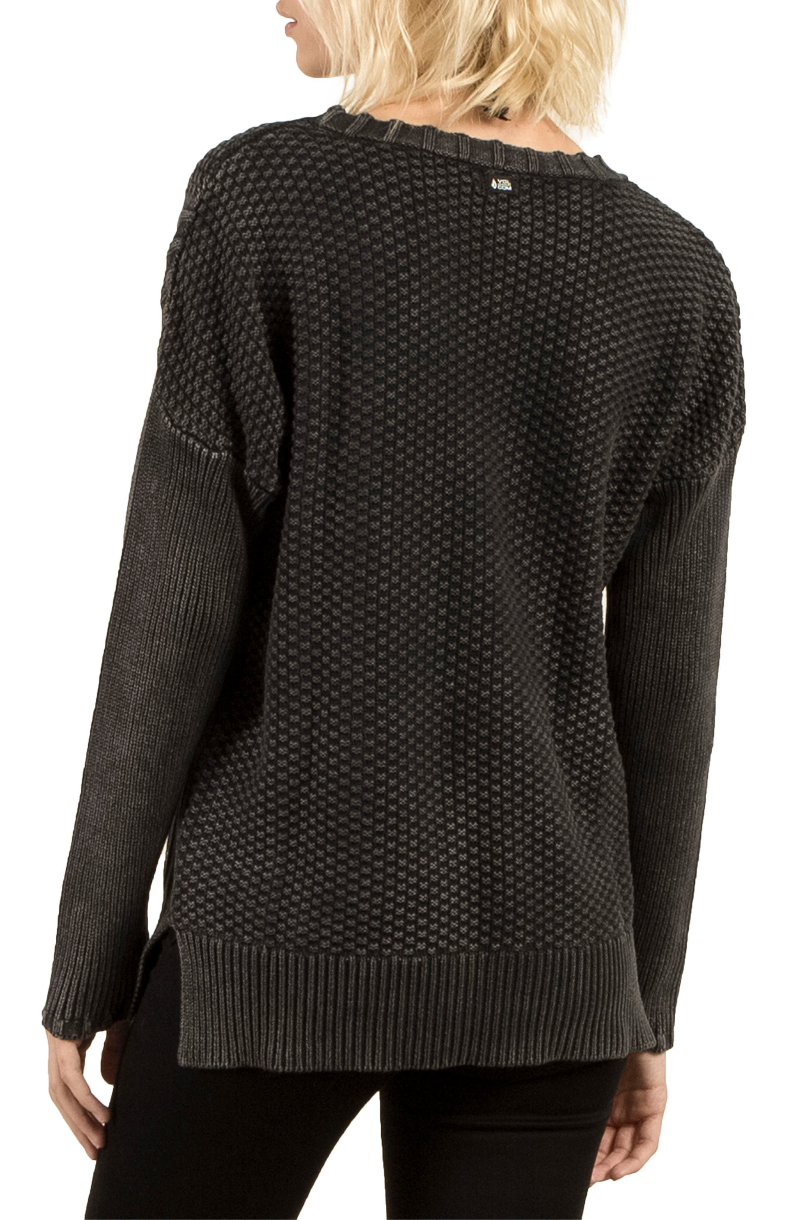 Twisted Mr Cotton Sweater,                             Alternate thumbnail 2, color,                             001