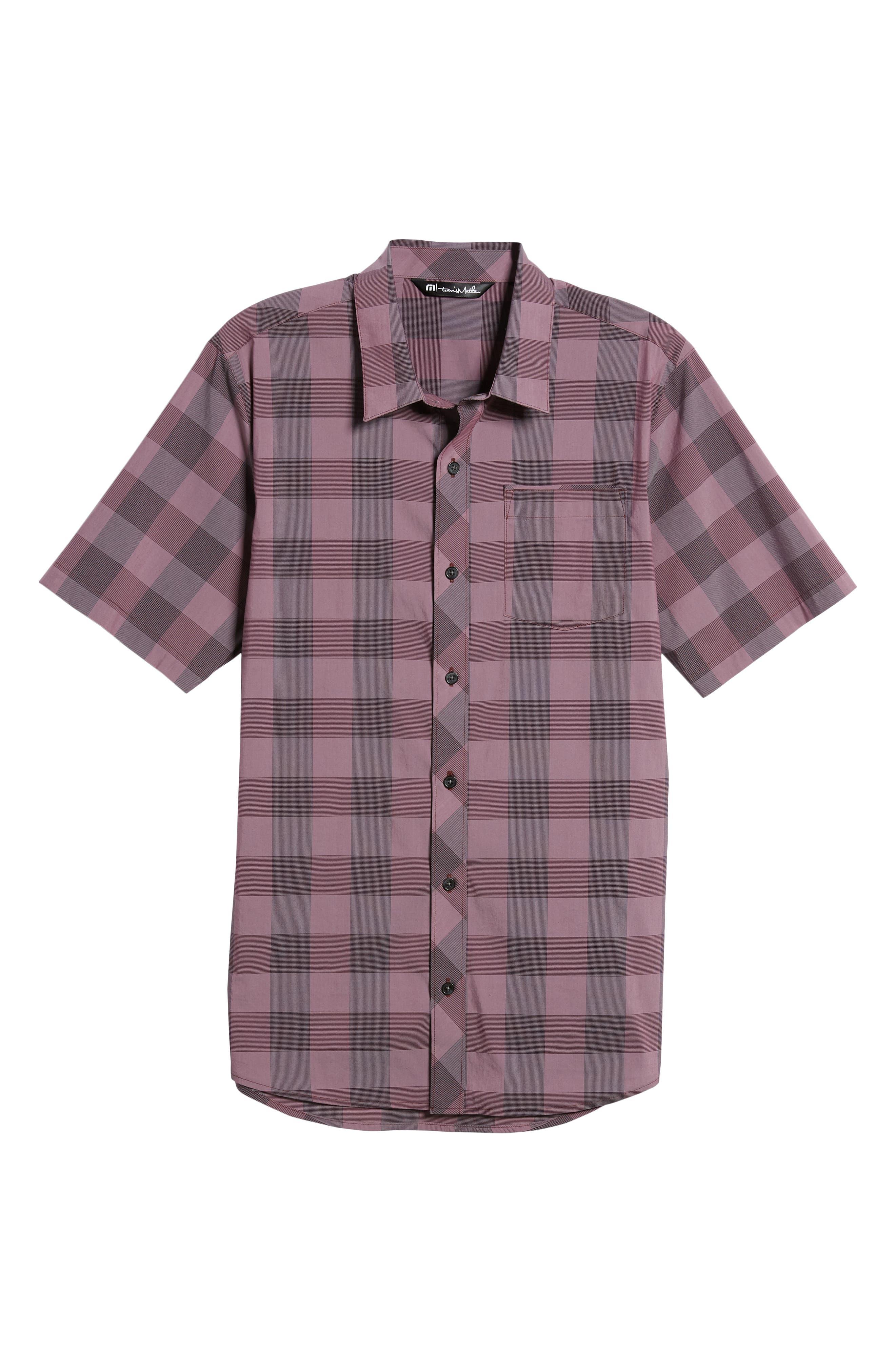 Buffalo Regular Fit Sport Shirt,                             Alternate thumbnail 5, color,                             HEATHER EGGPLANT