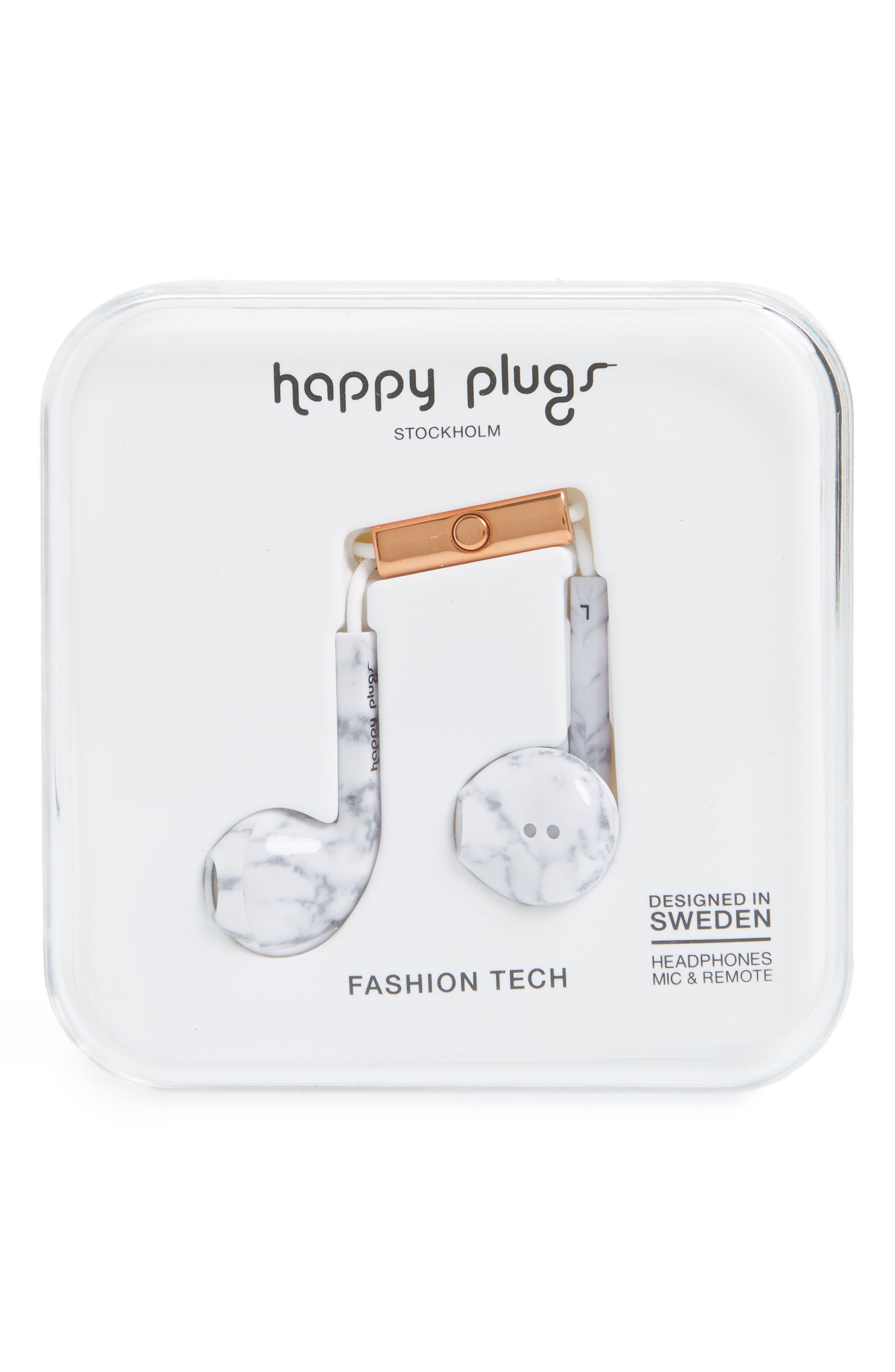 Earbud Plus In-Ear Headphones,                             Alternate thumbnail 2, color,                             WHITE MARBLE