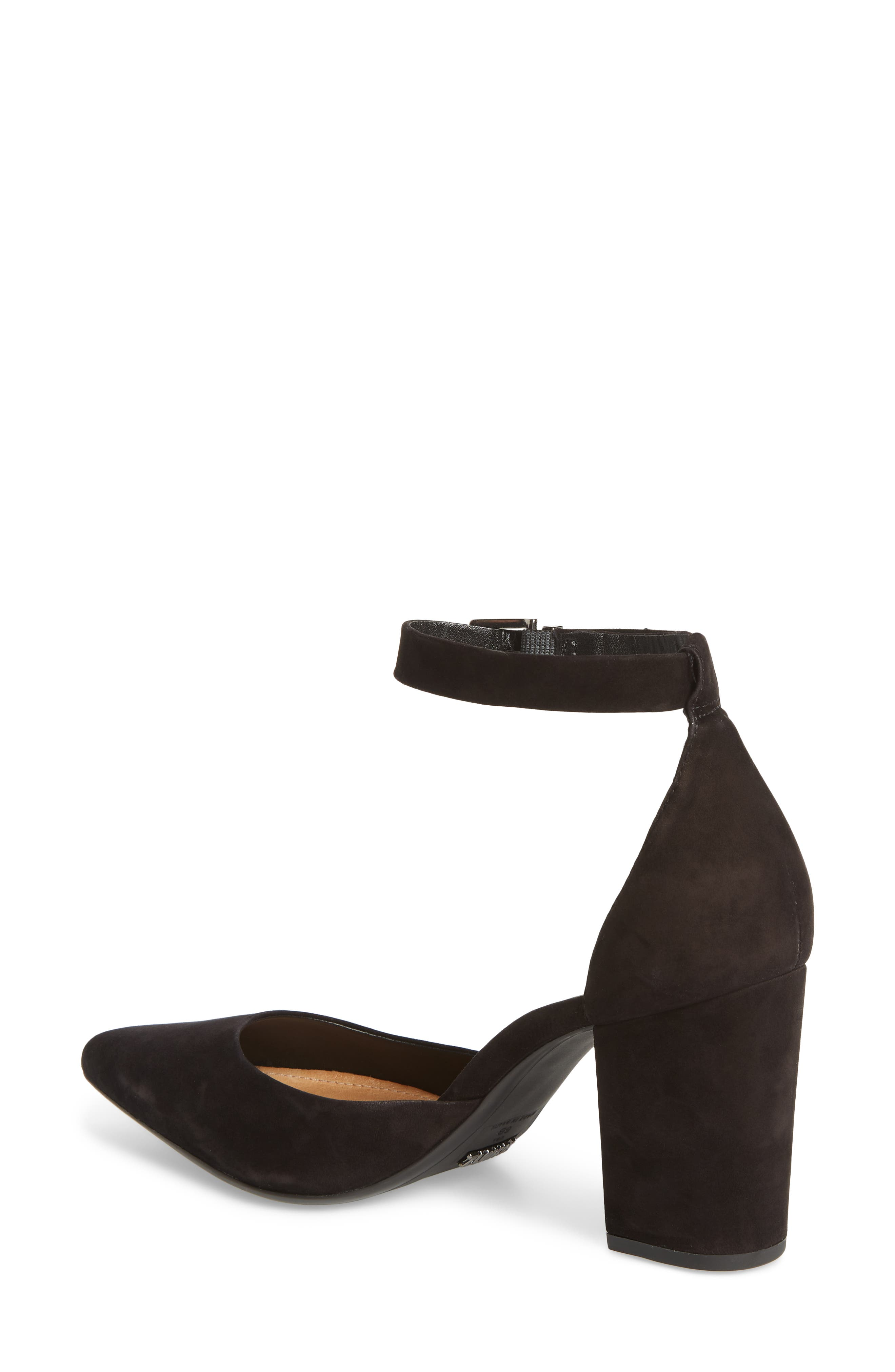 Ionara Ankle Strap Pump,                             Alternate thumbnail 2, color,                             BLACK NUBUCK LEATHER