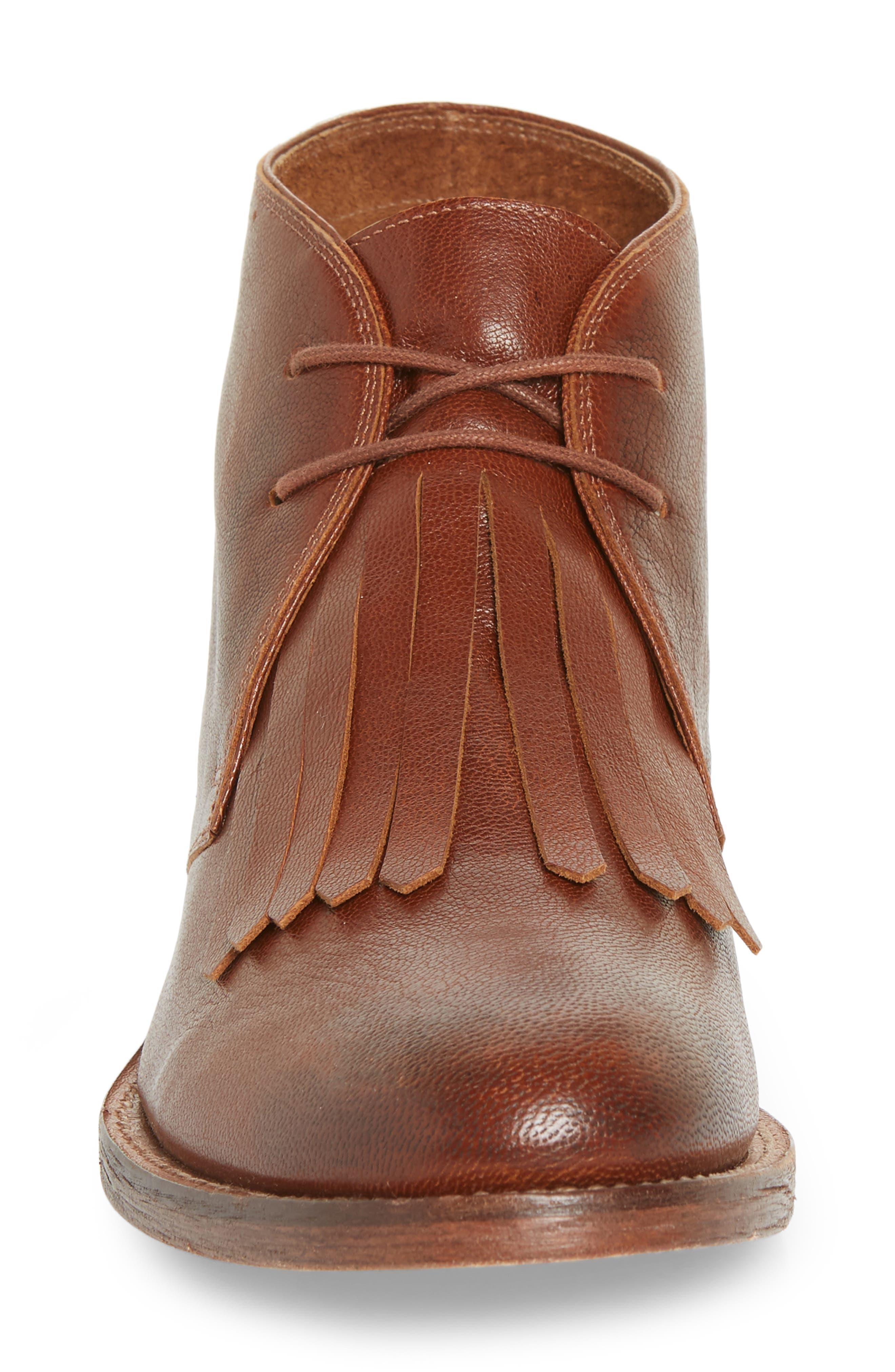The Kilty Boot,                             Alternate thumbnail 4, color,                             COGNAC LEATHER